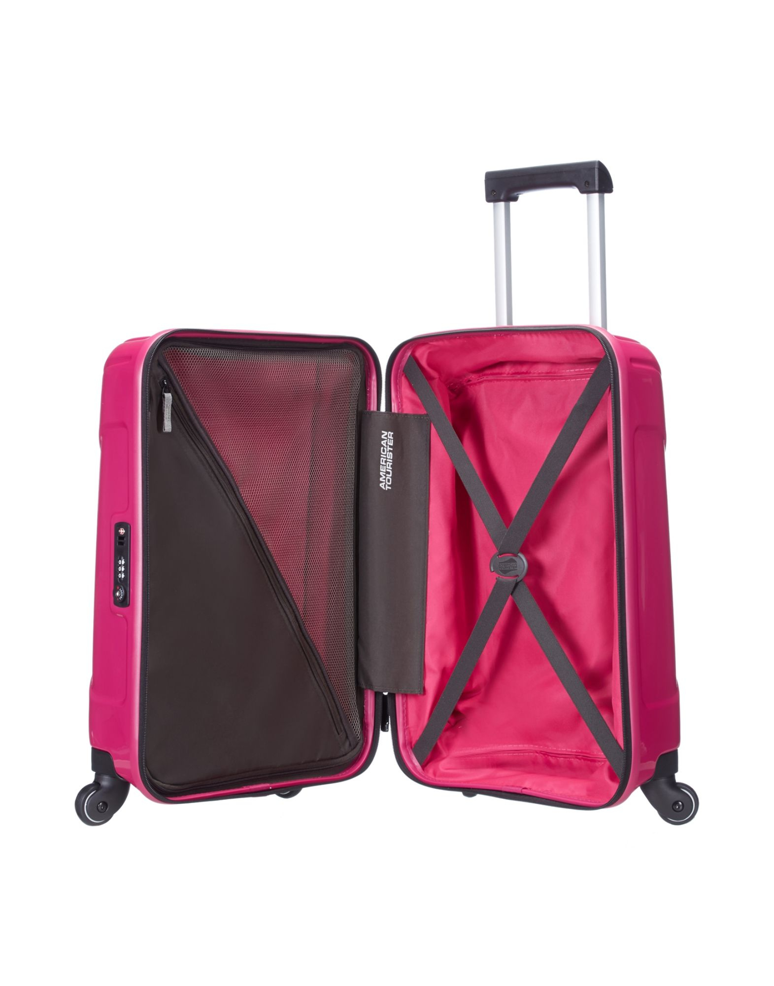 american tourister wheeled luggage in pink lyst