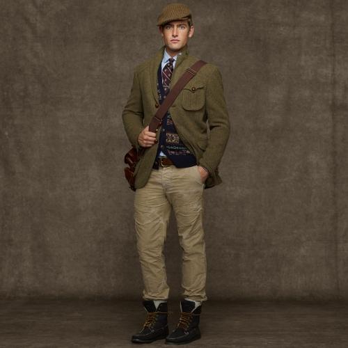 Polo ralph lauren Messenger Tweed Sport Coat in Green for Men | Lyst