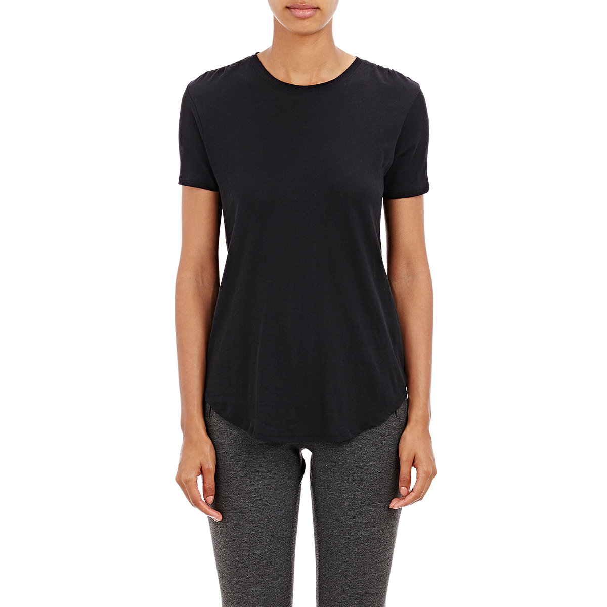 Atm women 39 s slub crewneck t shirt in black lyst for Atm t shirt sale