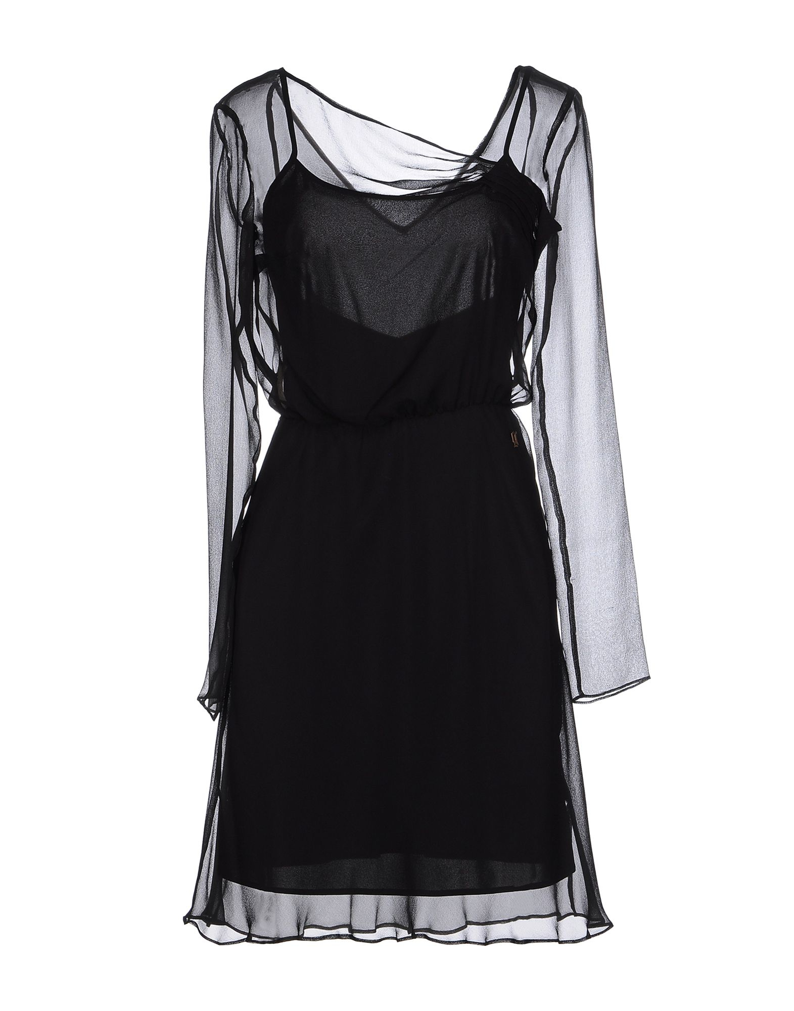 John galliano knee length dress in black lyst