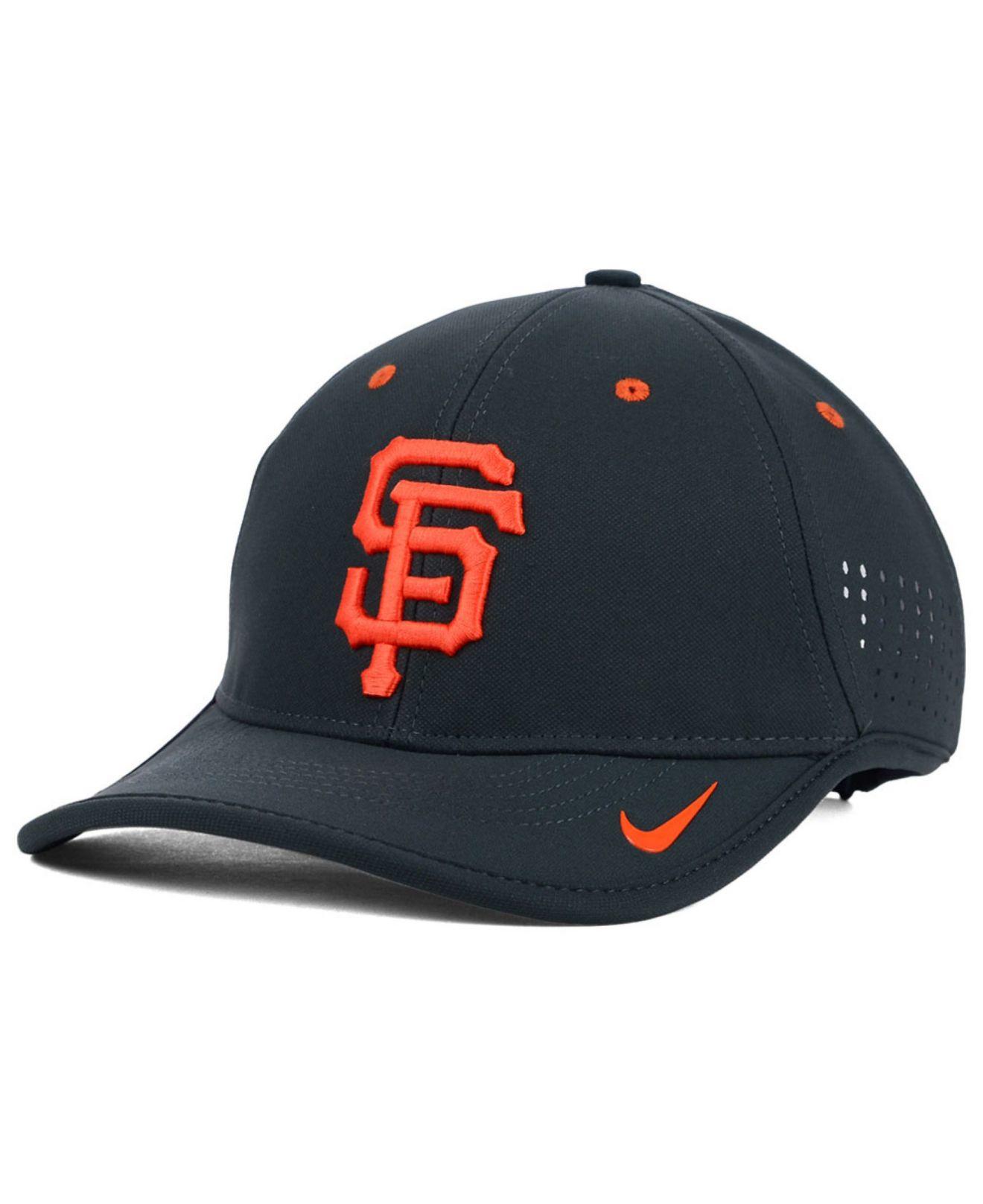 3f53f986f5bba Nike San Francisco Giants Vapor Swoosh Adjustable Cap in Gray for ...