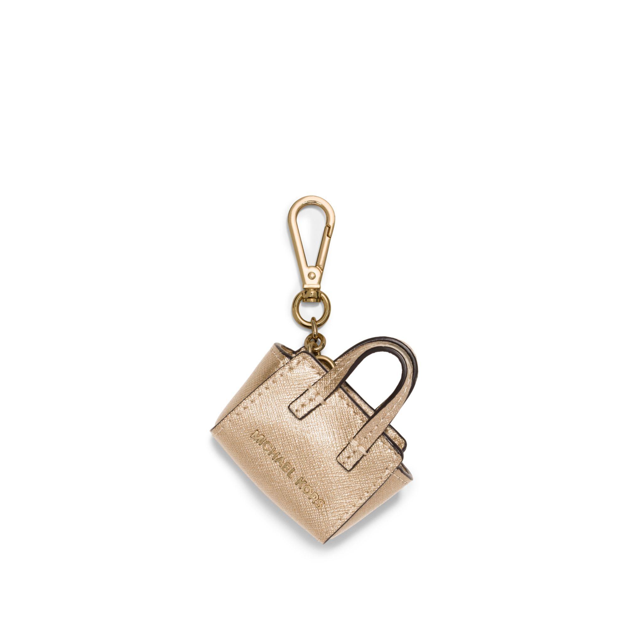 a774e95b3a174 Michael Kors Mini Purse Keychain Florence Leather Satchel Marwood