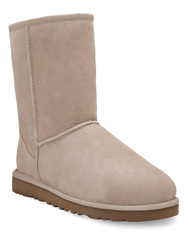 ugg classic short boots in beige sand lyst. Black Bedroom Furniture Sets. Home Design Ideas