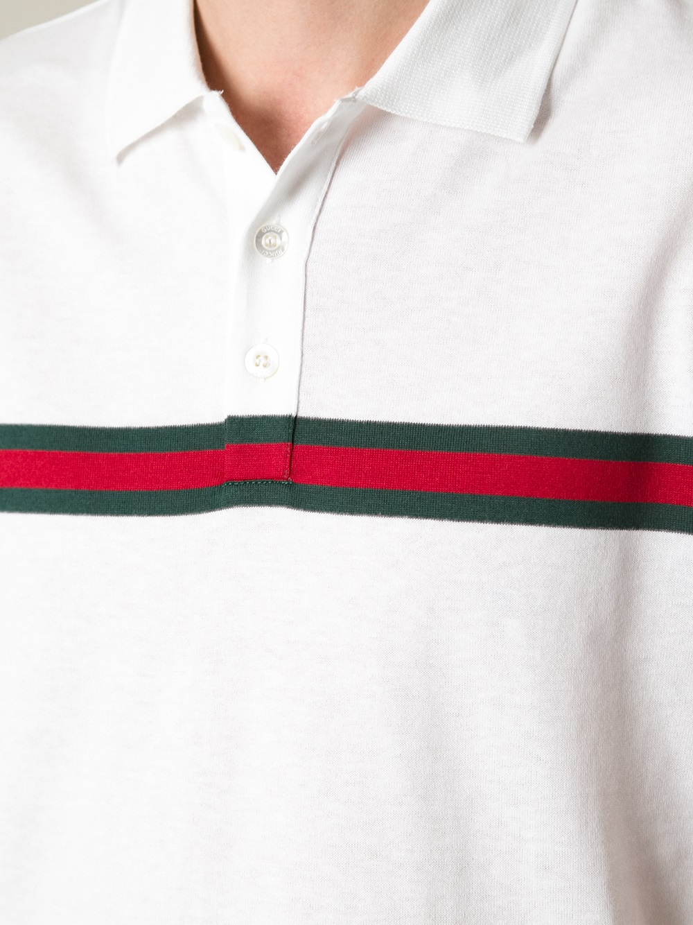 d30bbde1963 Lyst - Gucci Short Sleeve Polo Shirt in White for Men