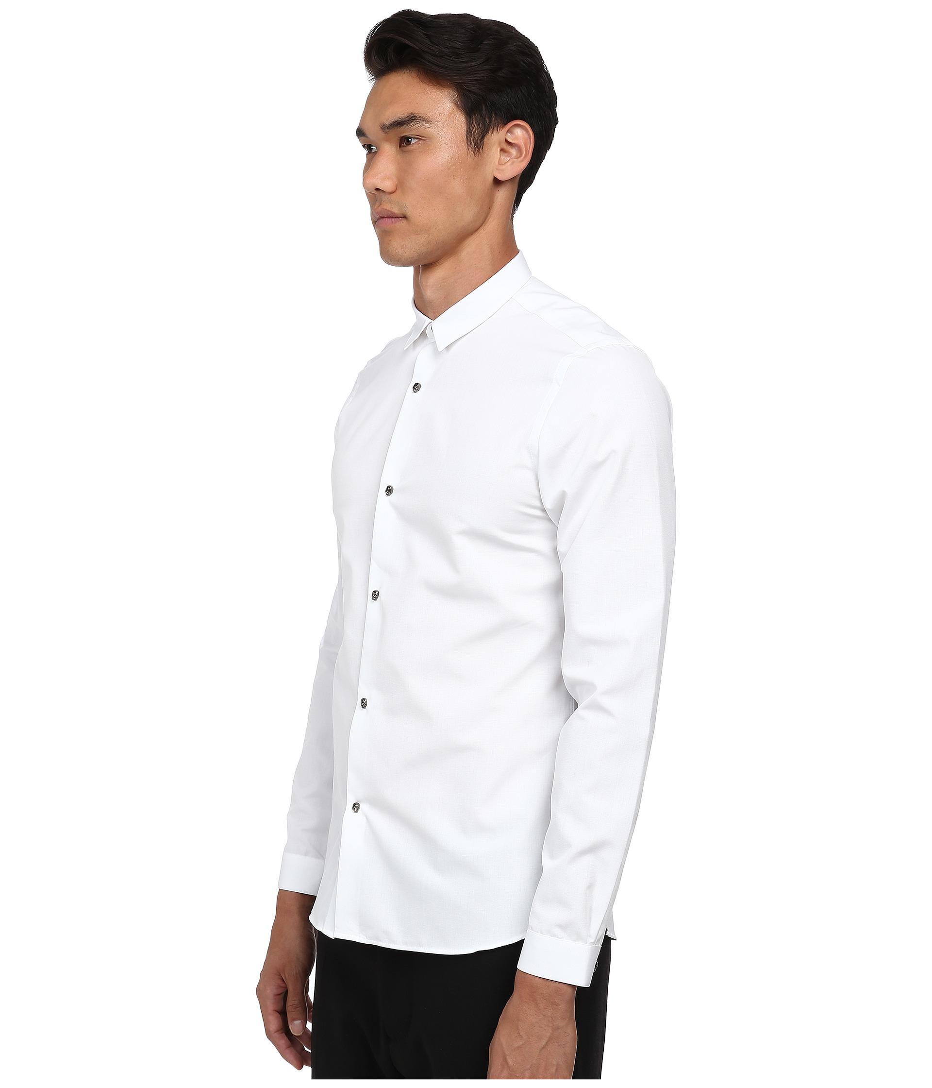 3dc657d3 The Kooples Faille Shirt W/ Skull Buttons in White for Men - Lyst