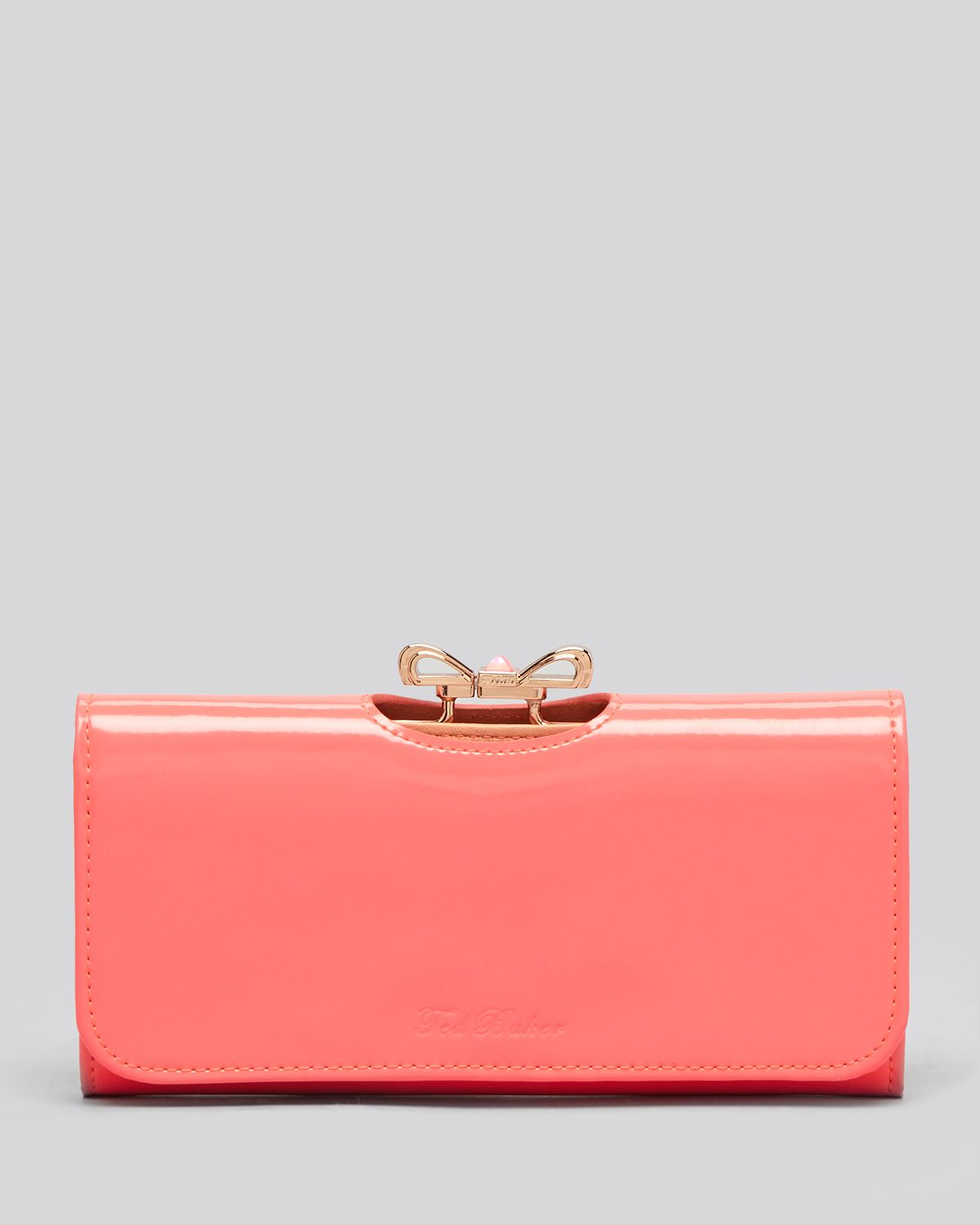 7e879ecc7880 Lyst - Ted Baker Wallet Crystal Bow Bobble Matinee Continental in Pink