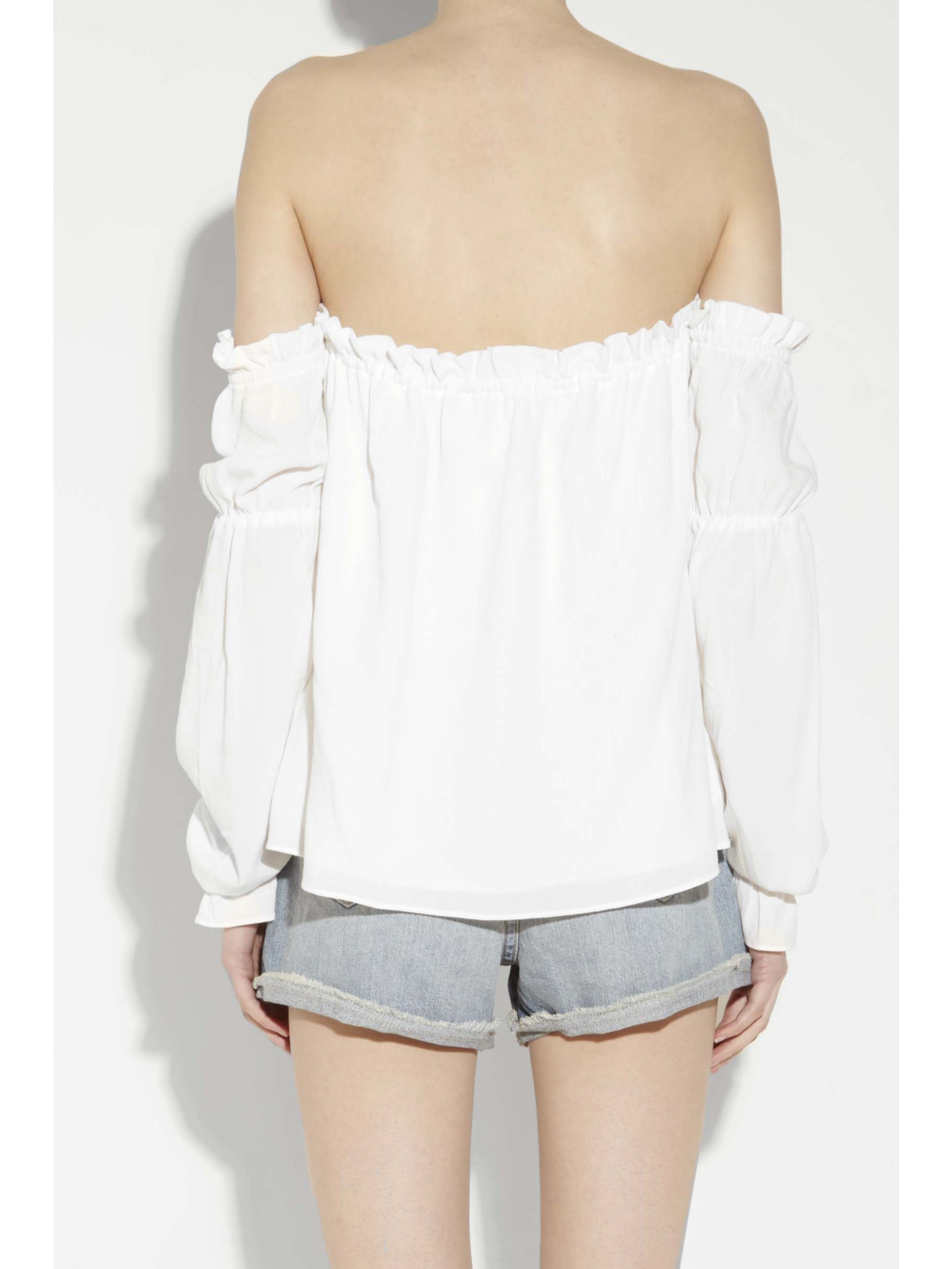 stone cold fox nate off the shoulder blouse in white lyst. Black Bedroom Furniture Sets. Home Design Ideas