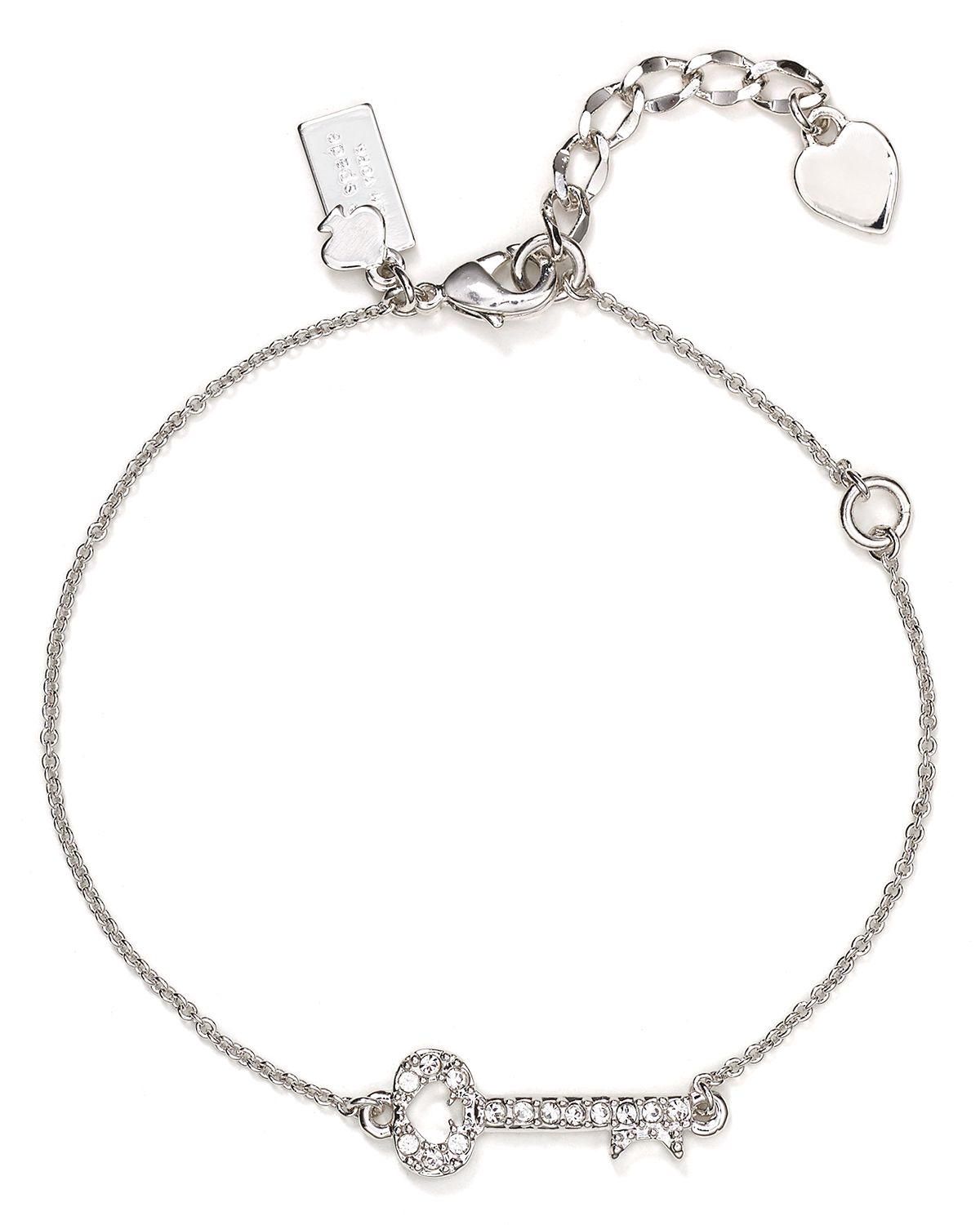 Lyst Kate Spade New York Charming Pave Key To My Heart Bracelet In
