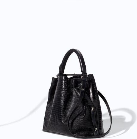 0920d863e9 Black Handbag: Black Leather Handbag Zara