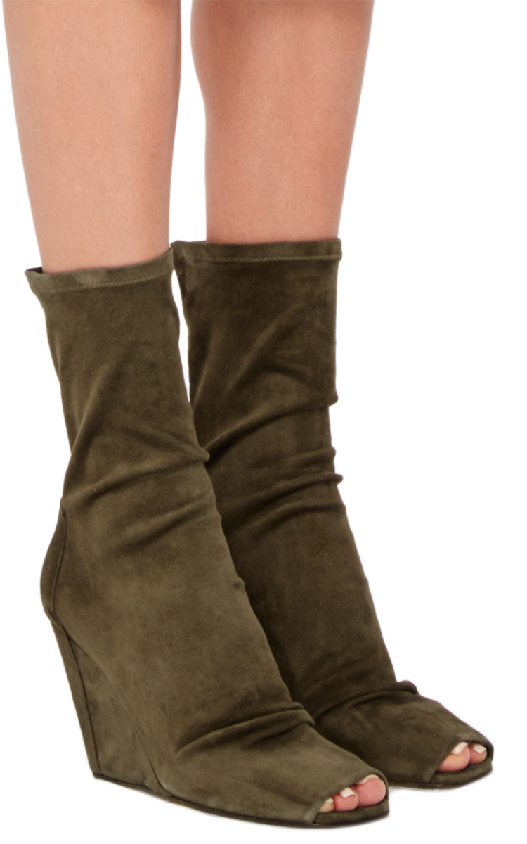 cheap manchester great sale Rick Owens Suede Pointed-Toe Ankle Boots outlet 2015 new free shipping browse BZ7mf5NC4