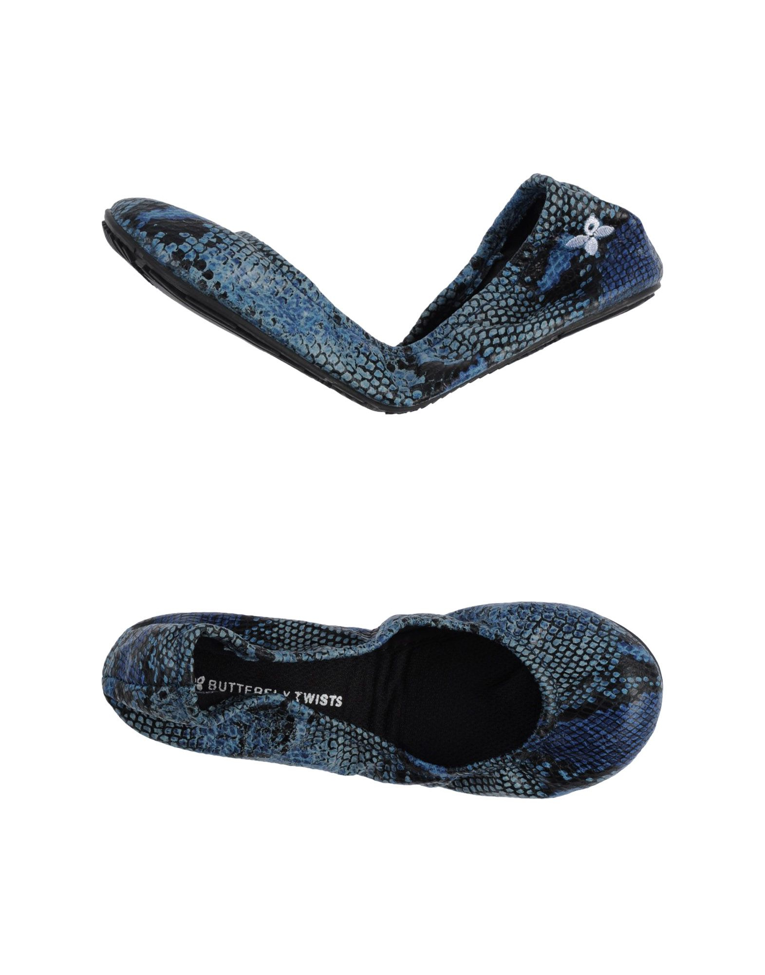 butterfly twists ballet flats in blue lyst. Black Bedroom Furniture Sets. Home Design Ideas