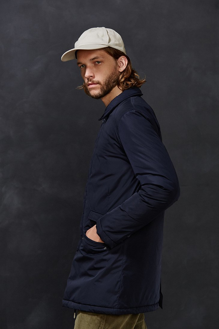 Native youth Padded Winter Mac Coat in Blue for Men | Lyst