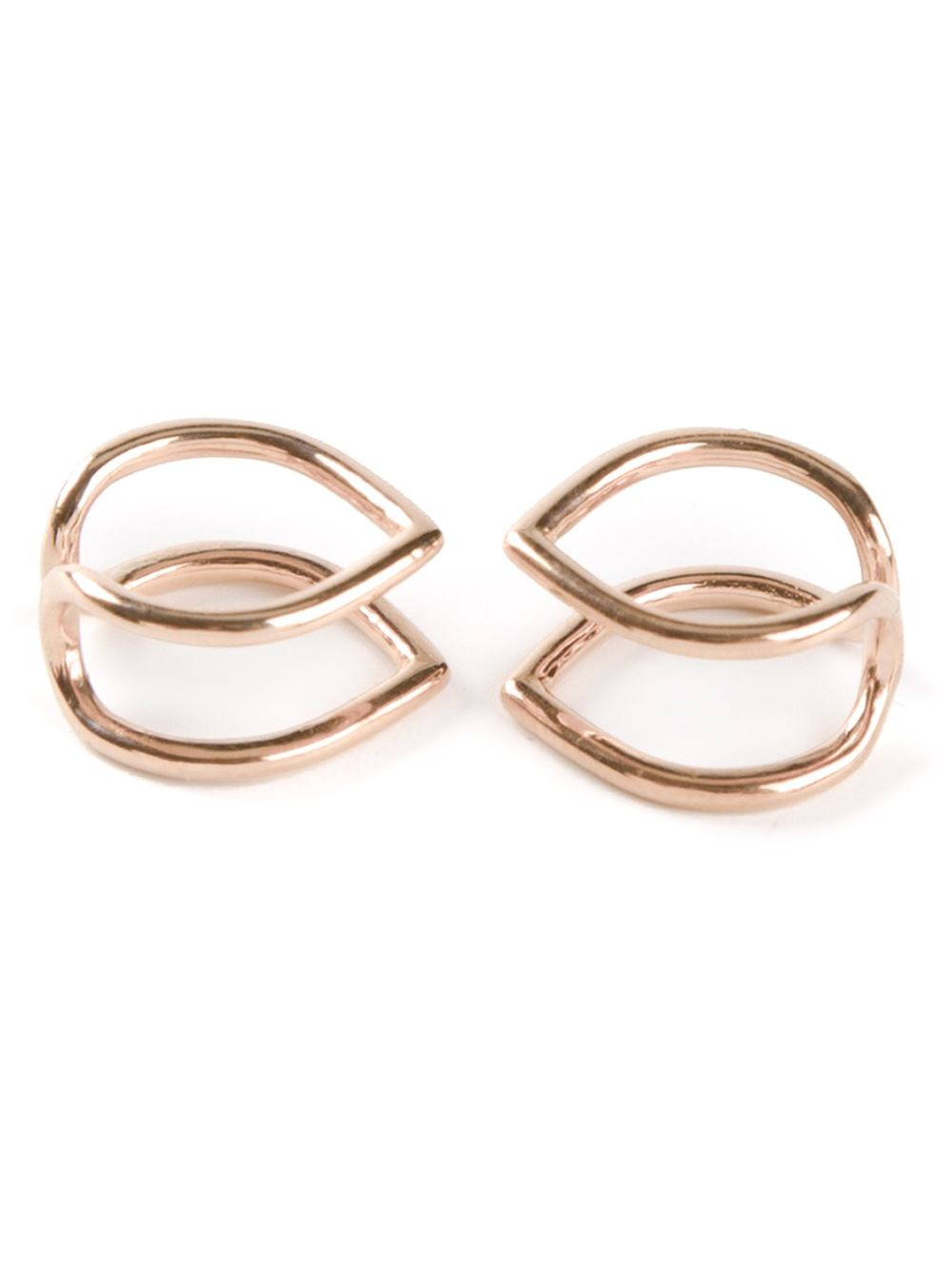 coops london small pointed double hoop squeeze on earrings. Black Bedroom Furniture Sets. Home Design Ideas