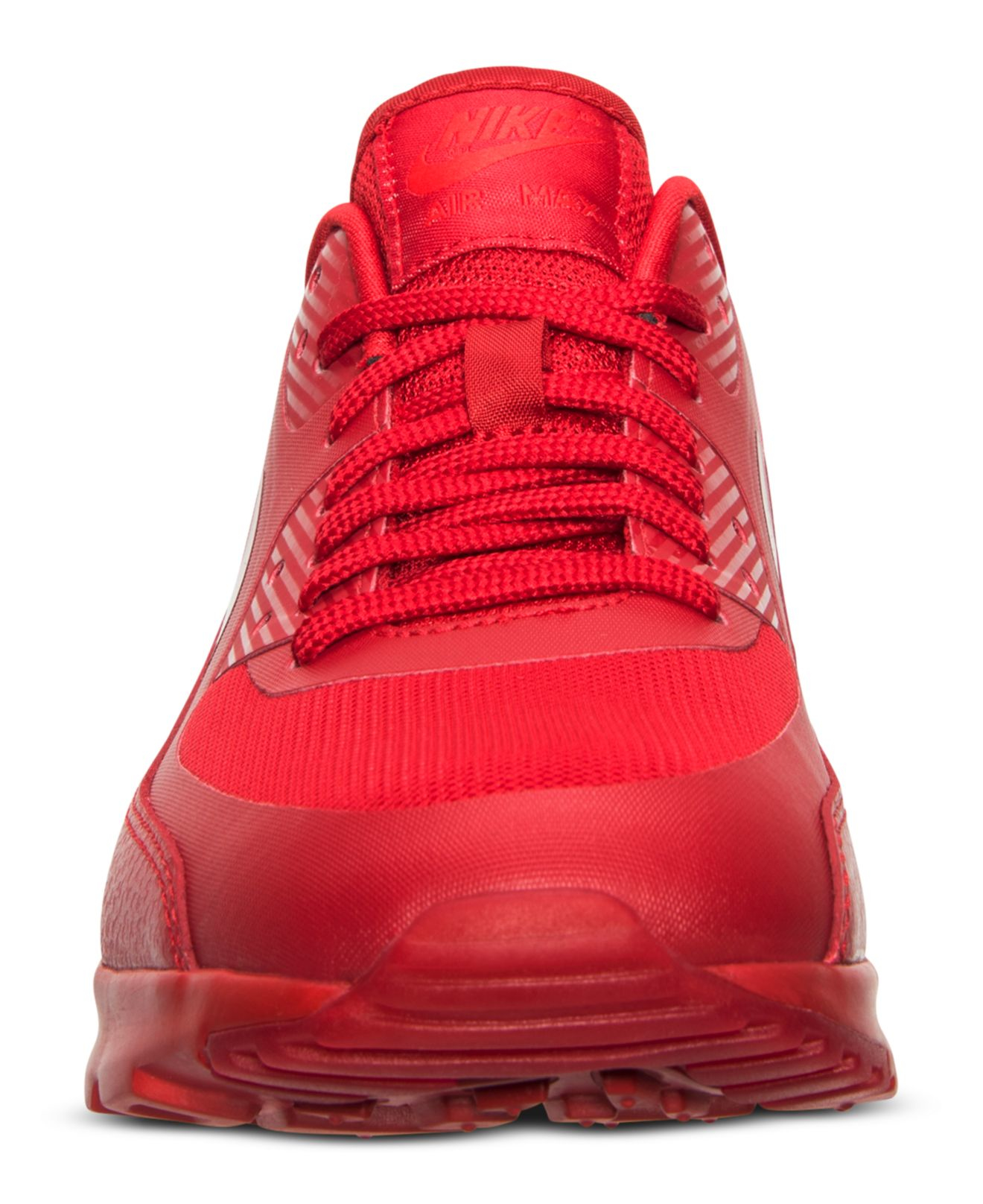 hot sale online 1e75d b47cb good nike air max 95 essential university red wolf 020a5 06eaf  greece lyst  nike womens air max 90 ultra essentials running sneakers 92904 56cde