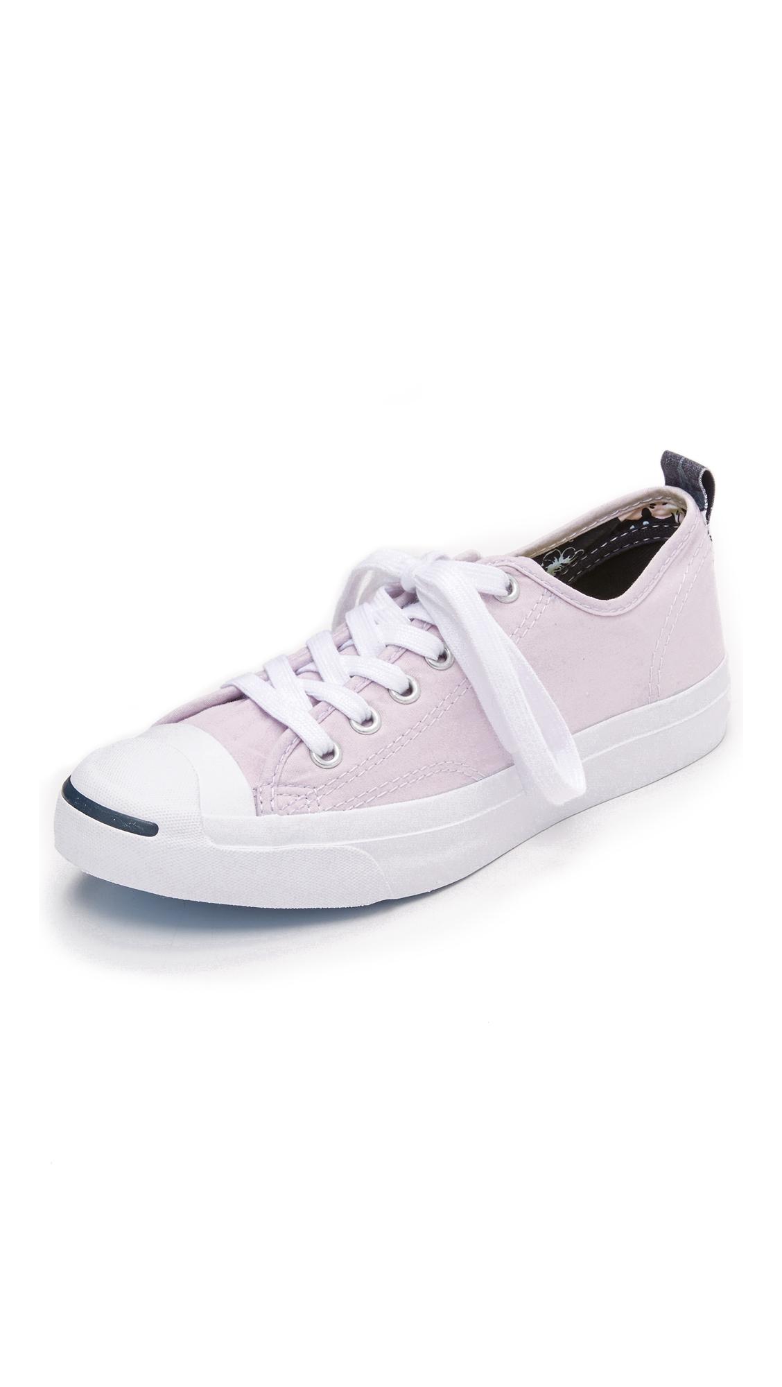 bf96cfa0c32c4b Lyst - Converse Jack Purcell Jack Hawaiian Twill Sneakers in Pink