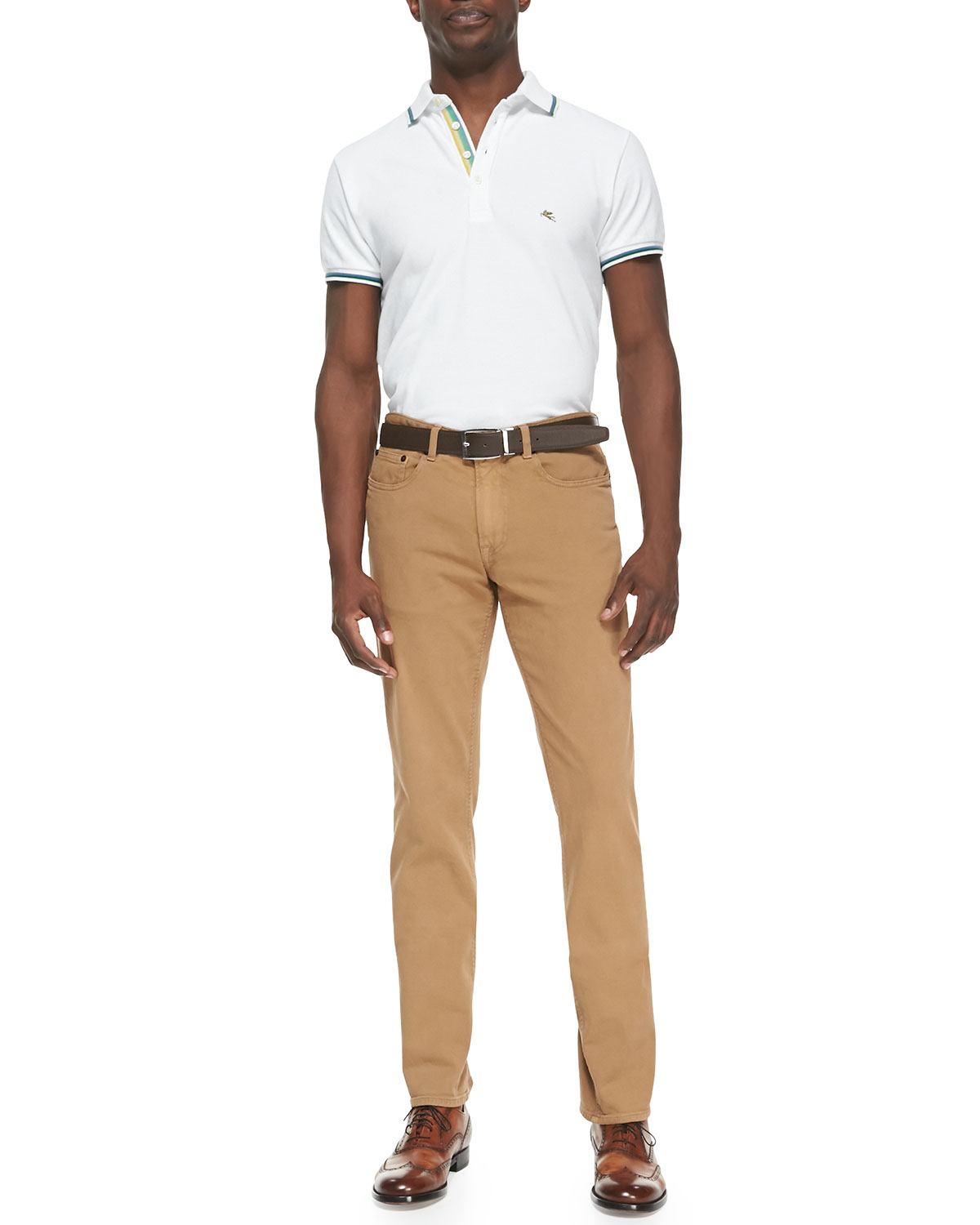 Etro 5-Pocket Twill Pants in Natural for Men | Lyst