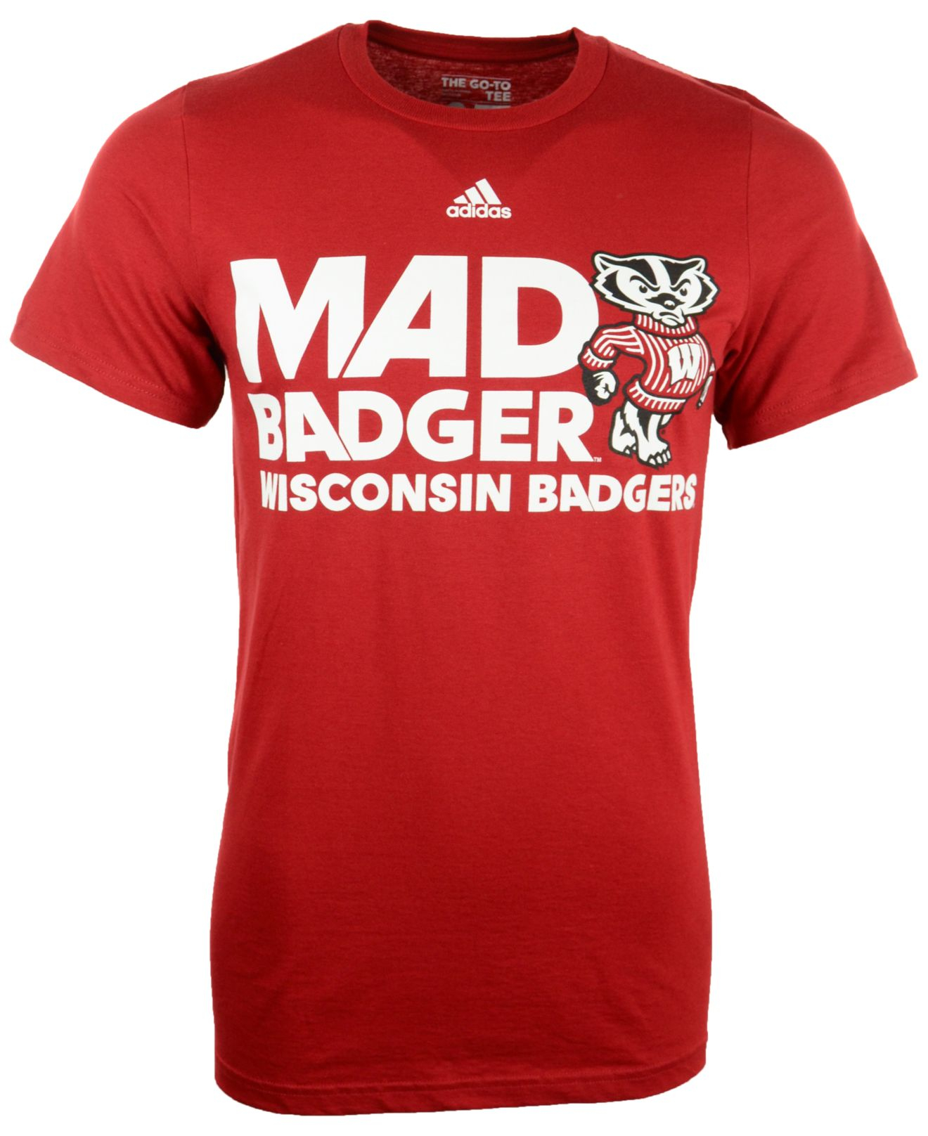 Adidas Men 39 S Wisconsin Badgers Motto T Shirt In Red For