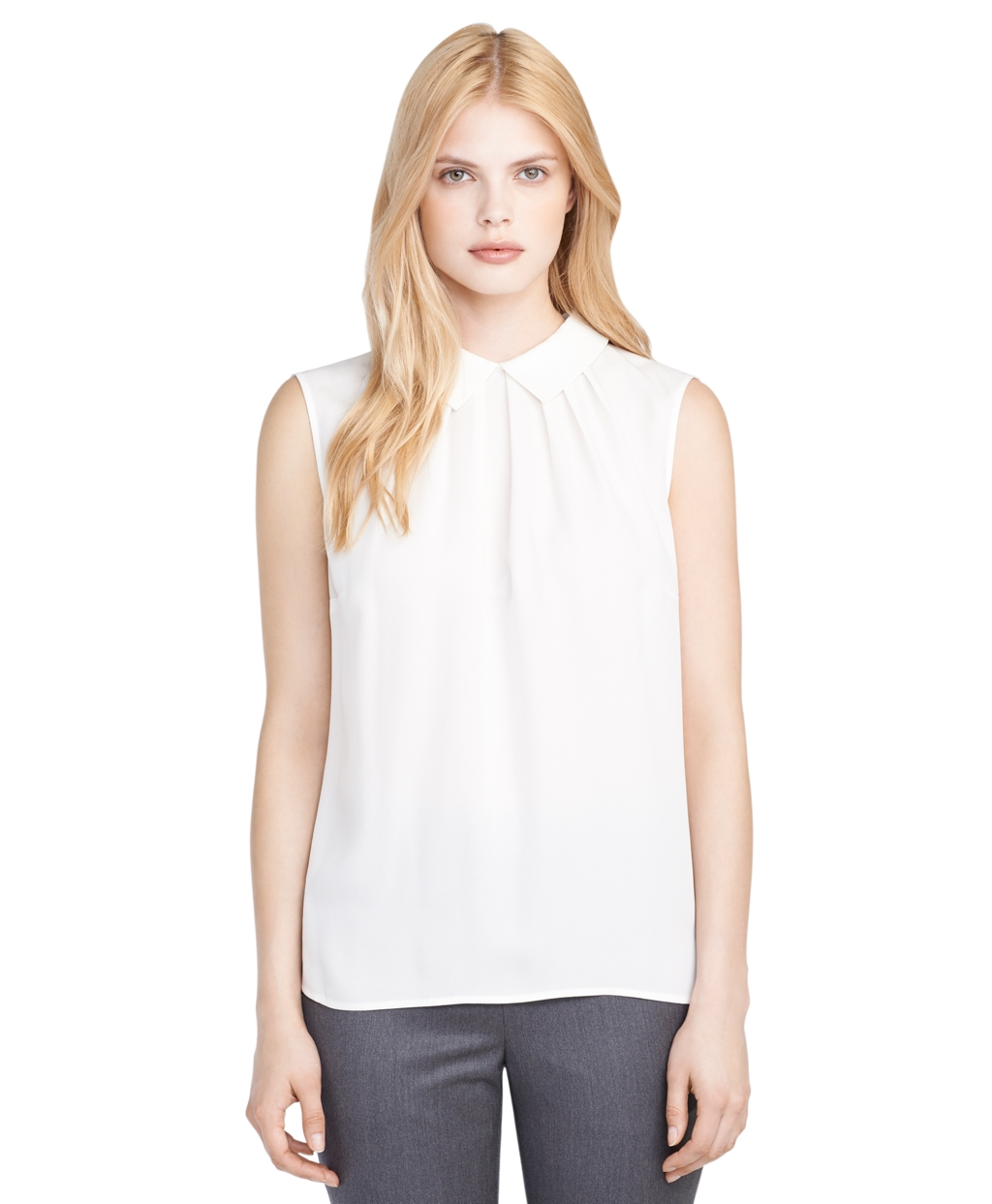 Brooks Brothers White Blouse 58