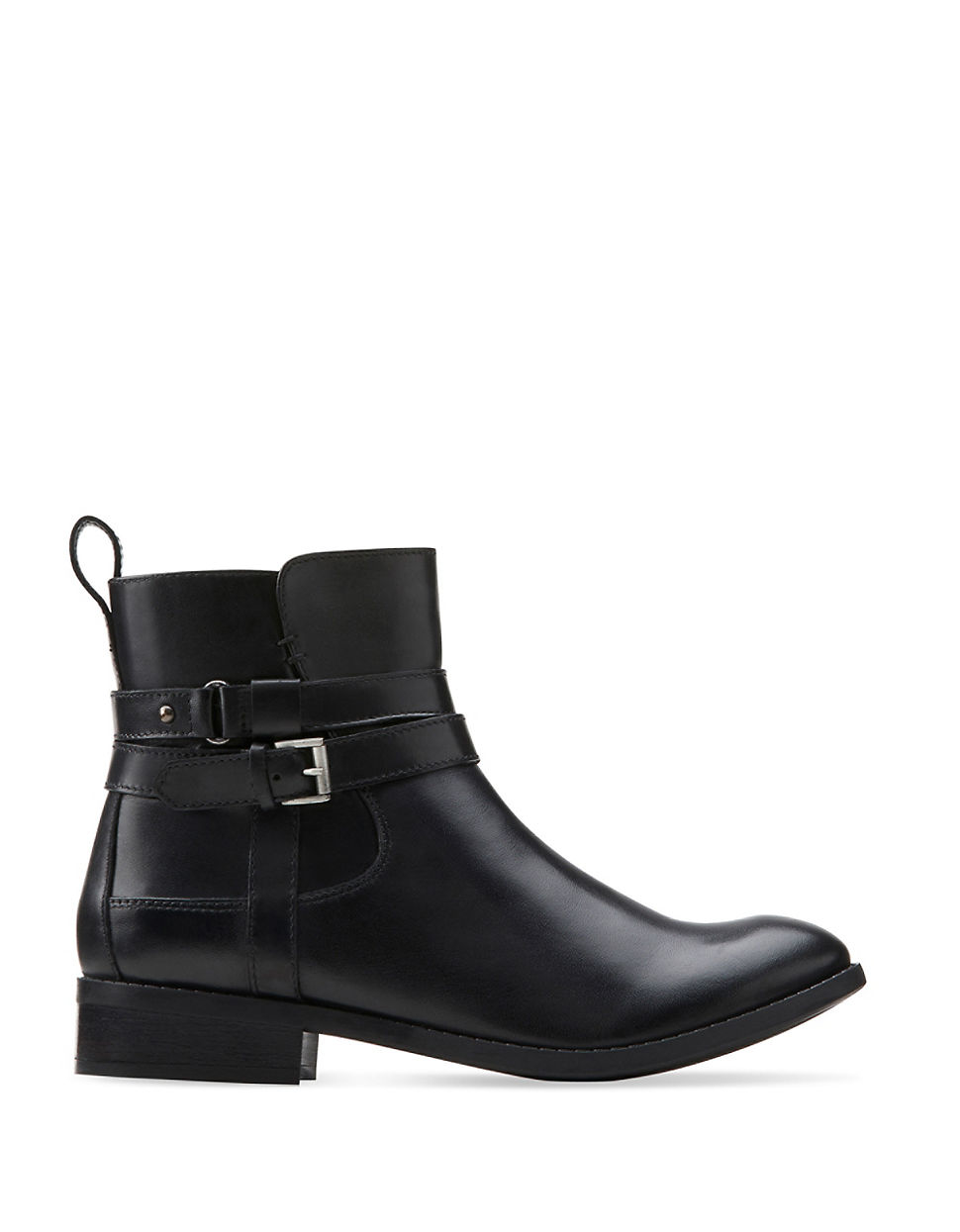 clarks pita leather ankle boots in black lyst