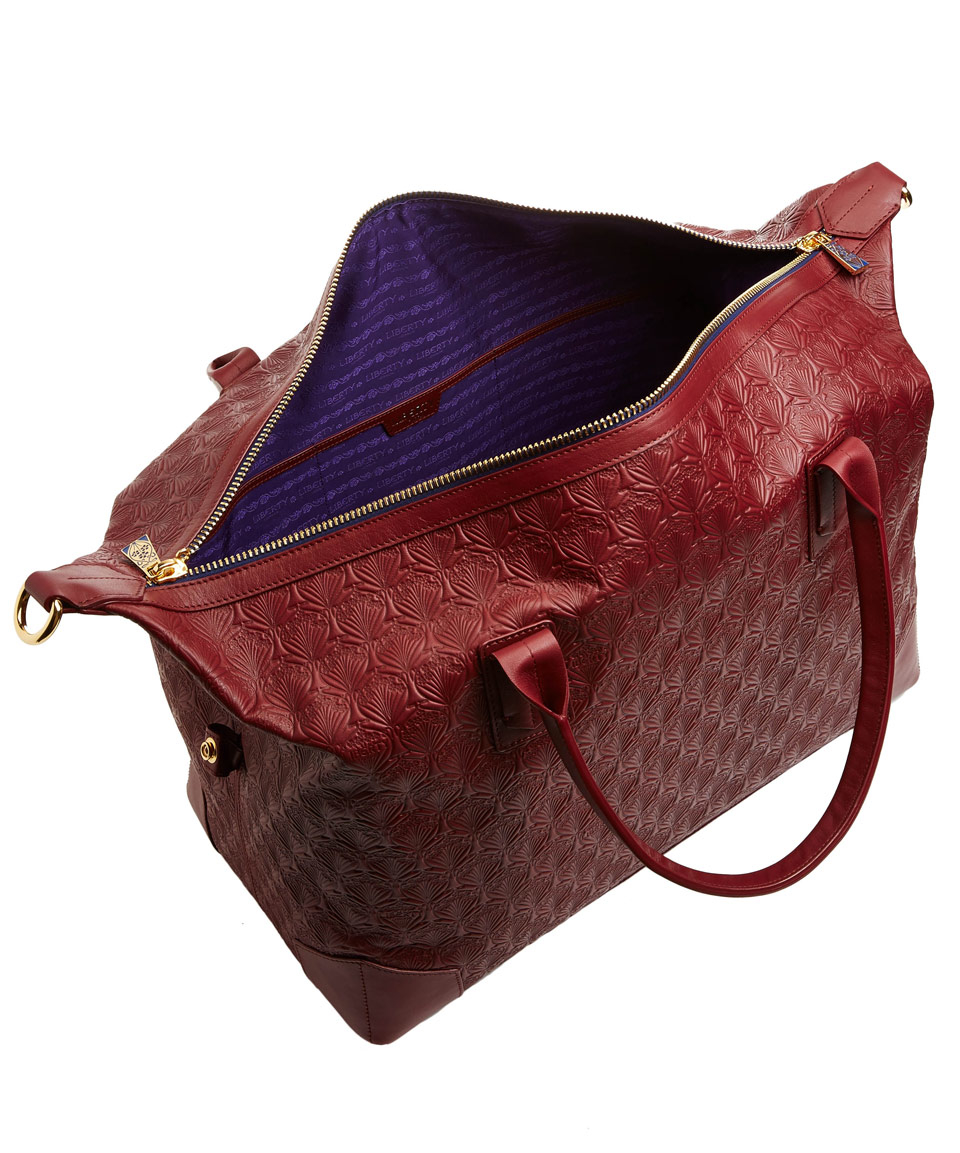 48ff7d1fa8 Lyst - Liberty Oxblood Iphis Leather Regent Weekend Bag in Purple