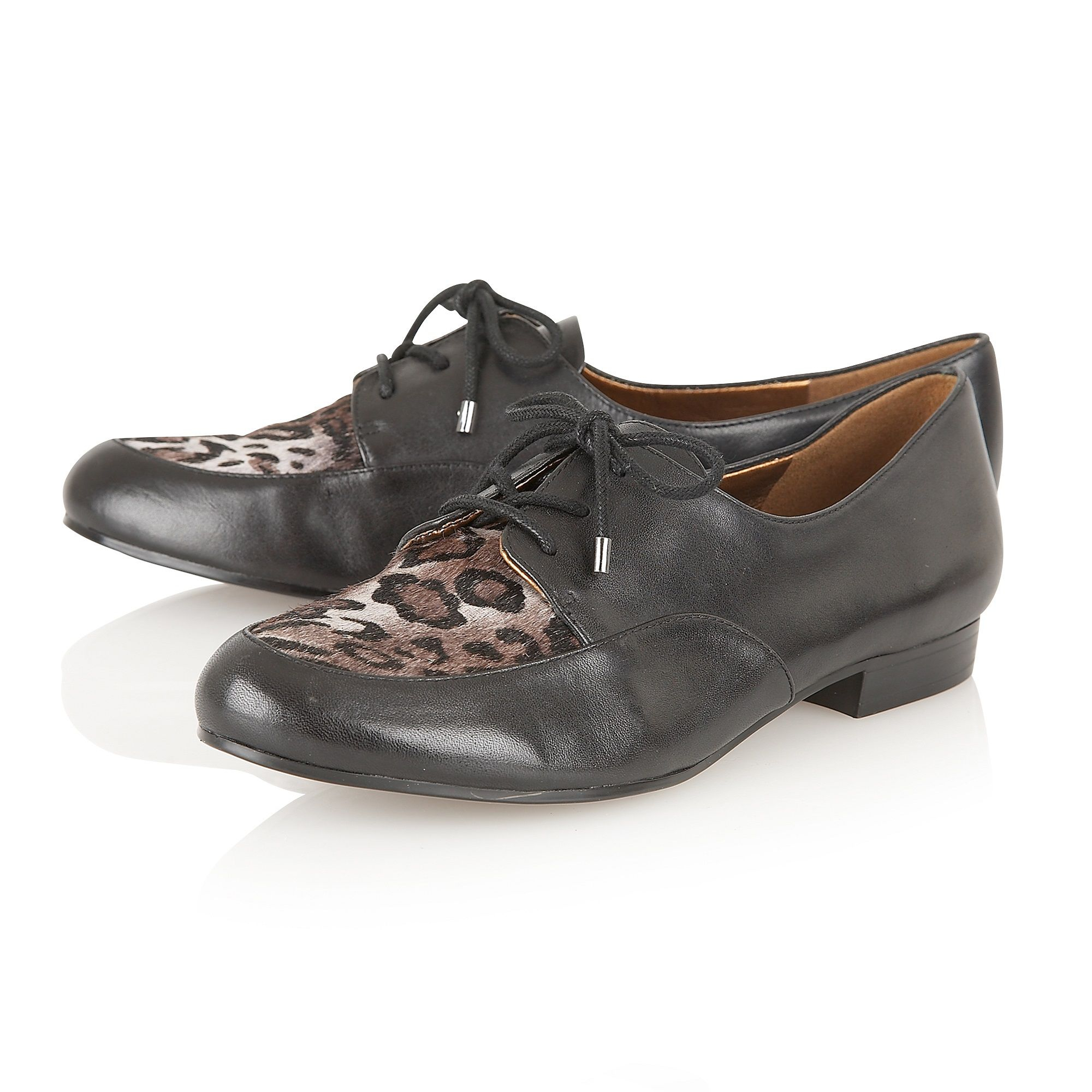 naturalizer lara lace up shoes in black lyst