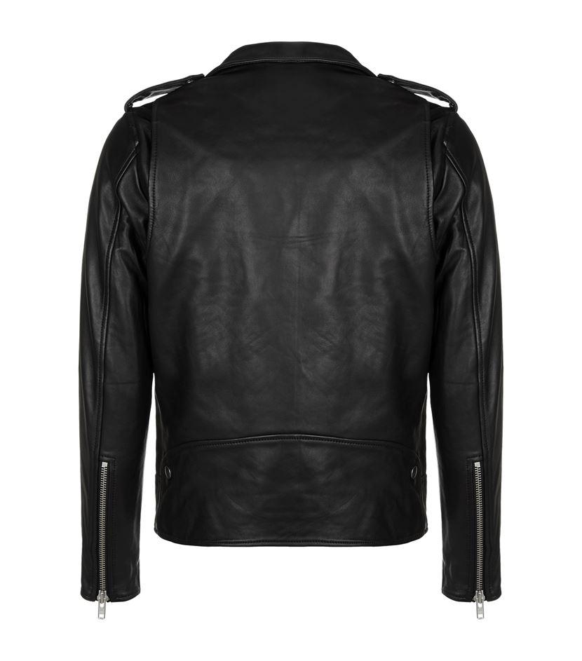 Sandro Thrasher Leather Jacket In Black For Men Lyst