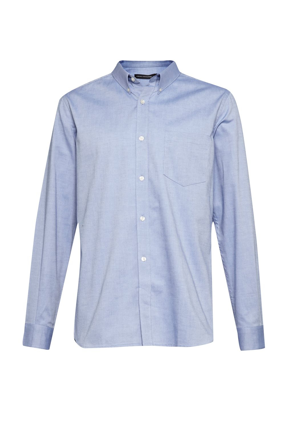 French connection co washed oxford shirt in blue for men for French blue oxford shirt
