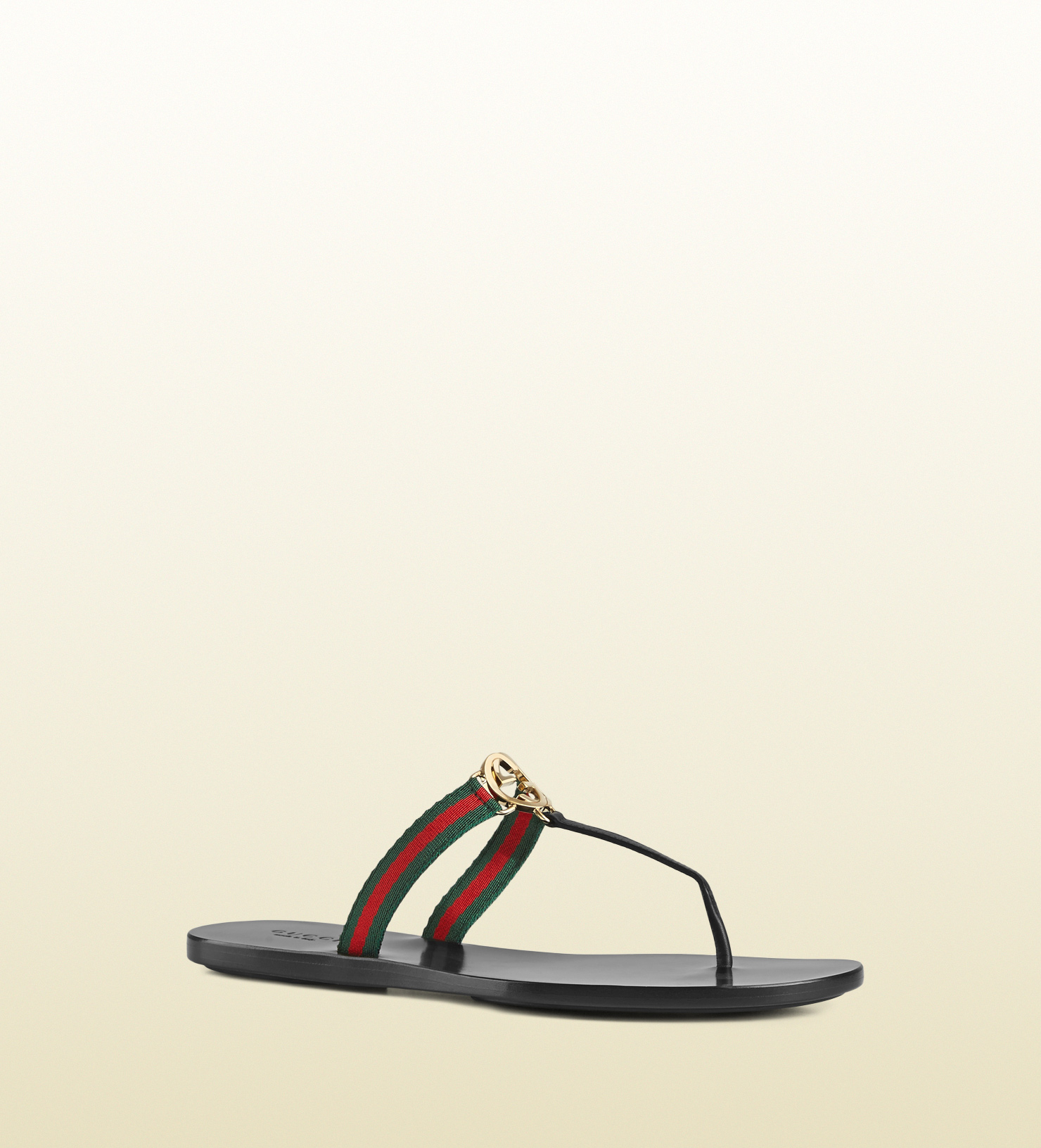 862f9a2215d640 Lyst - Gucci Gg Thong Nylon Web Sandal in Black for Men