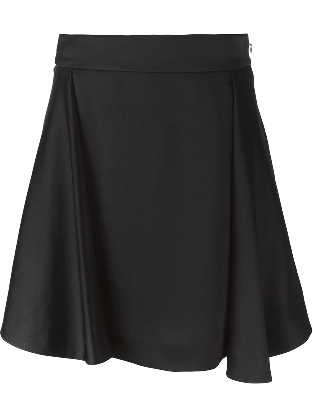 kenzo pleated a line skirt in black lyst