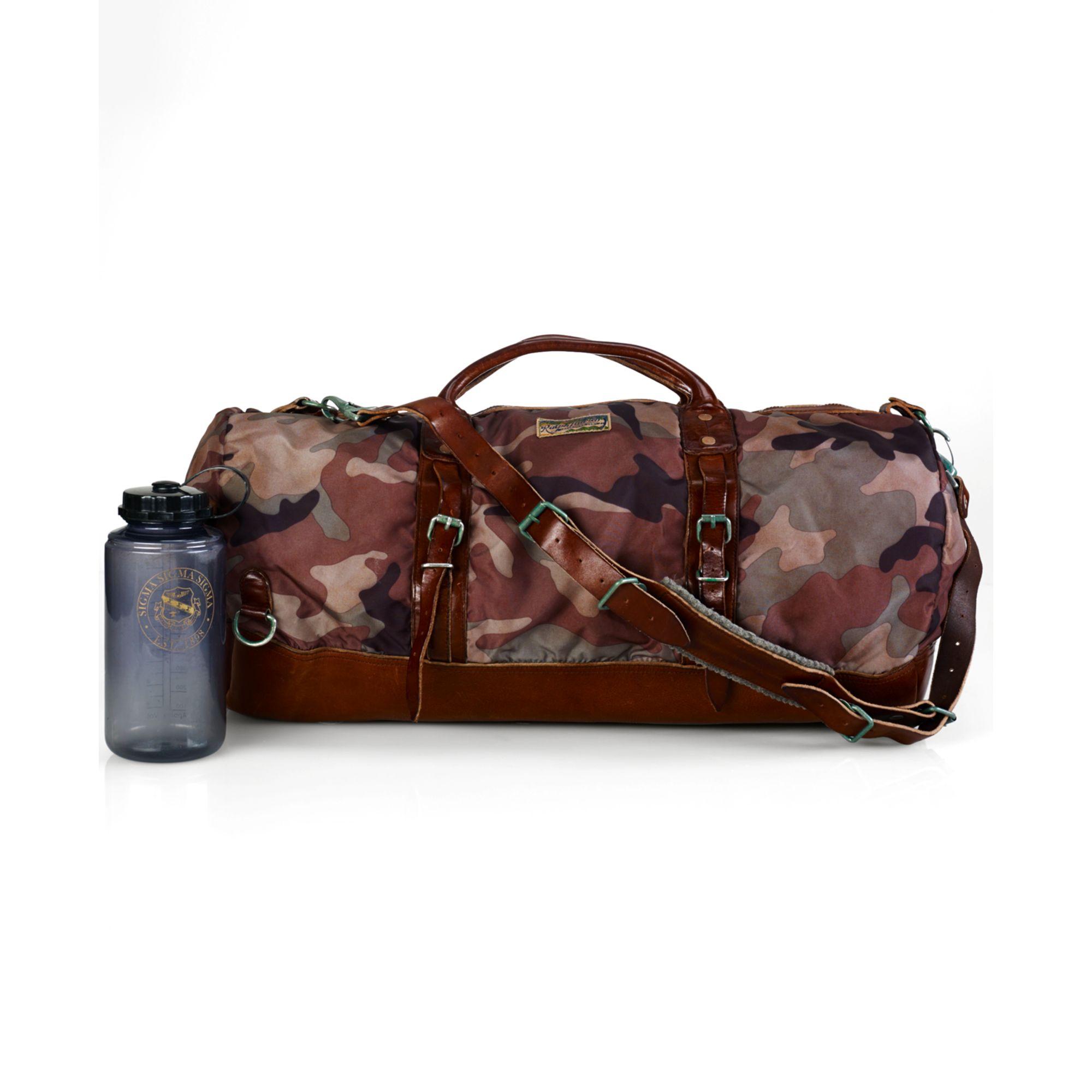 c11924277761 Lyst - Ralph Lauren Polo Camo Nylon Duffel Bag in Brown for Men