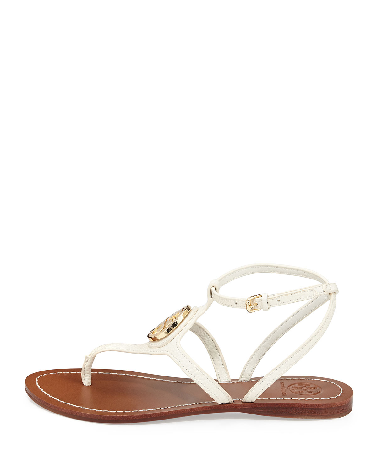 8e85f1e2f Lyst - Tory Burch Leticia Logo Thong Sandal Ivory in White