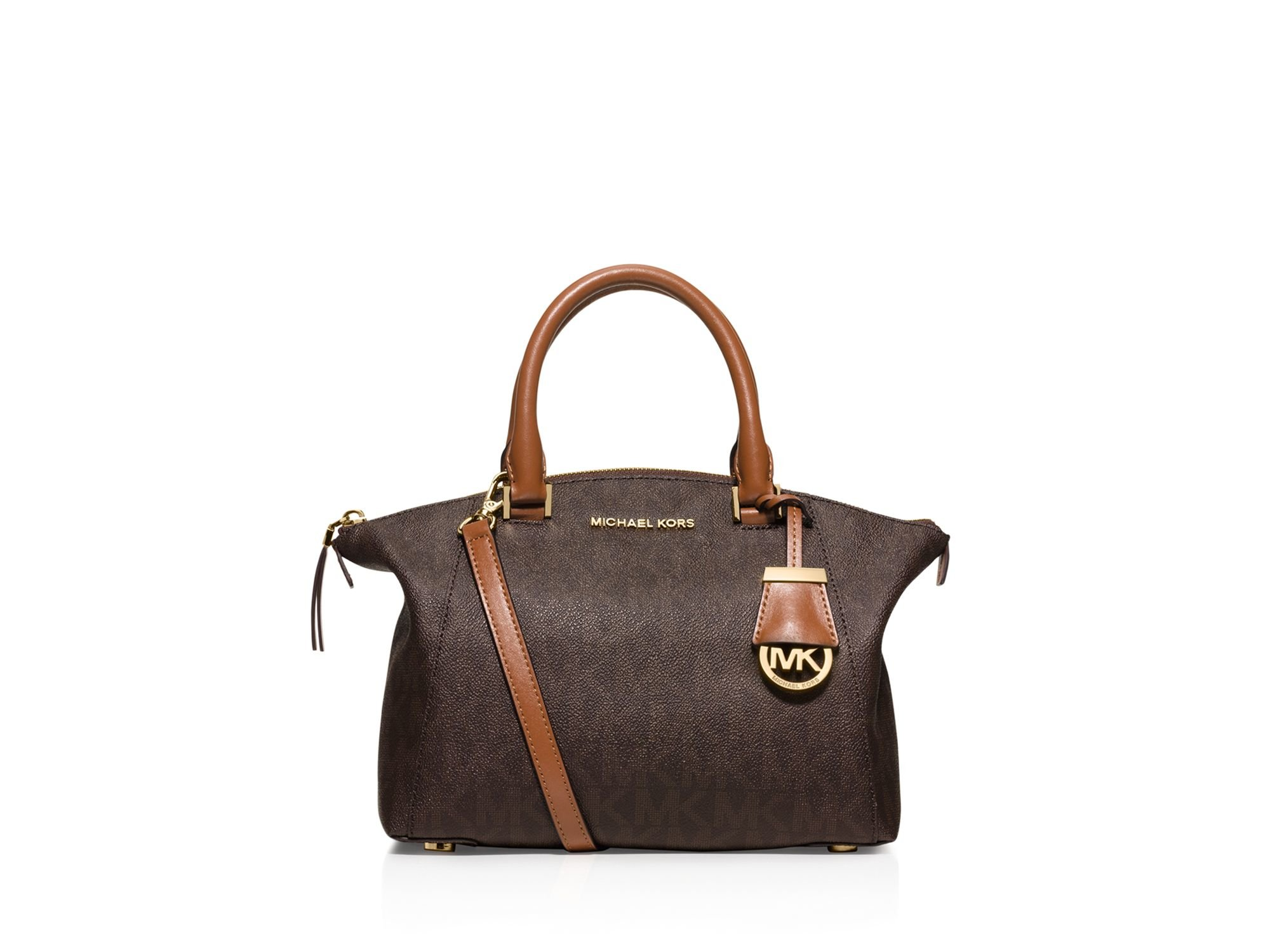 93e33fe48e0aa MICHAEL Michael Kors Riley Signature Small Satchel in Brown - Lyst