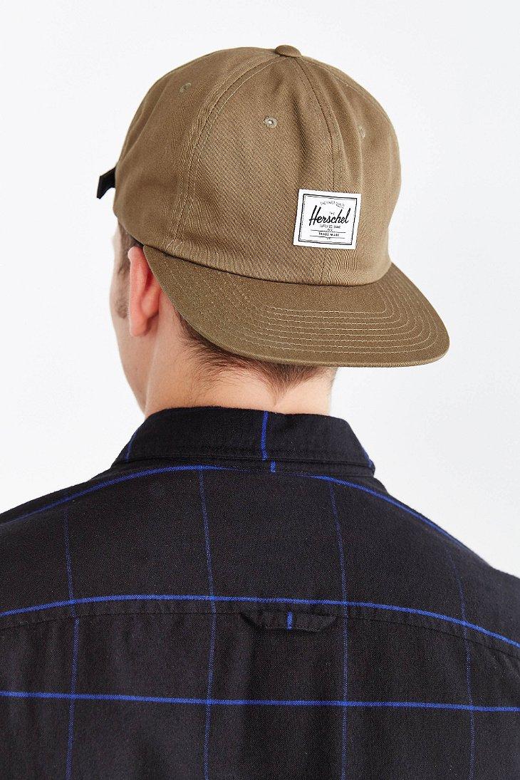 7c1f8eec1ba australia lyst herschel supply co. albert strapback hat in natural for men  e5646 ba2e3