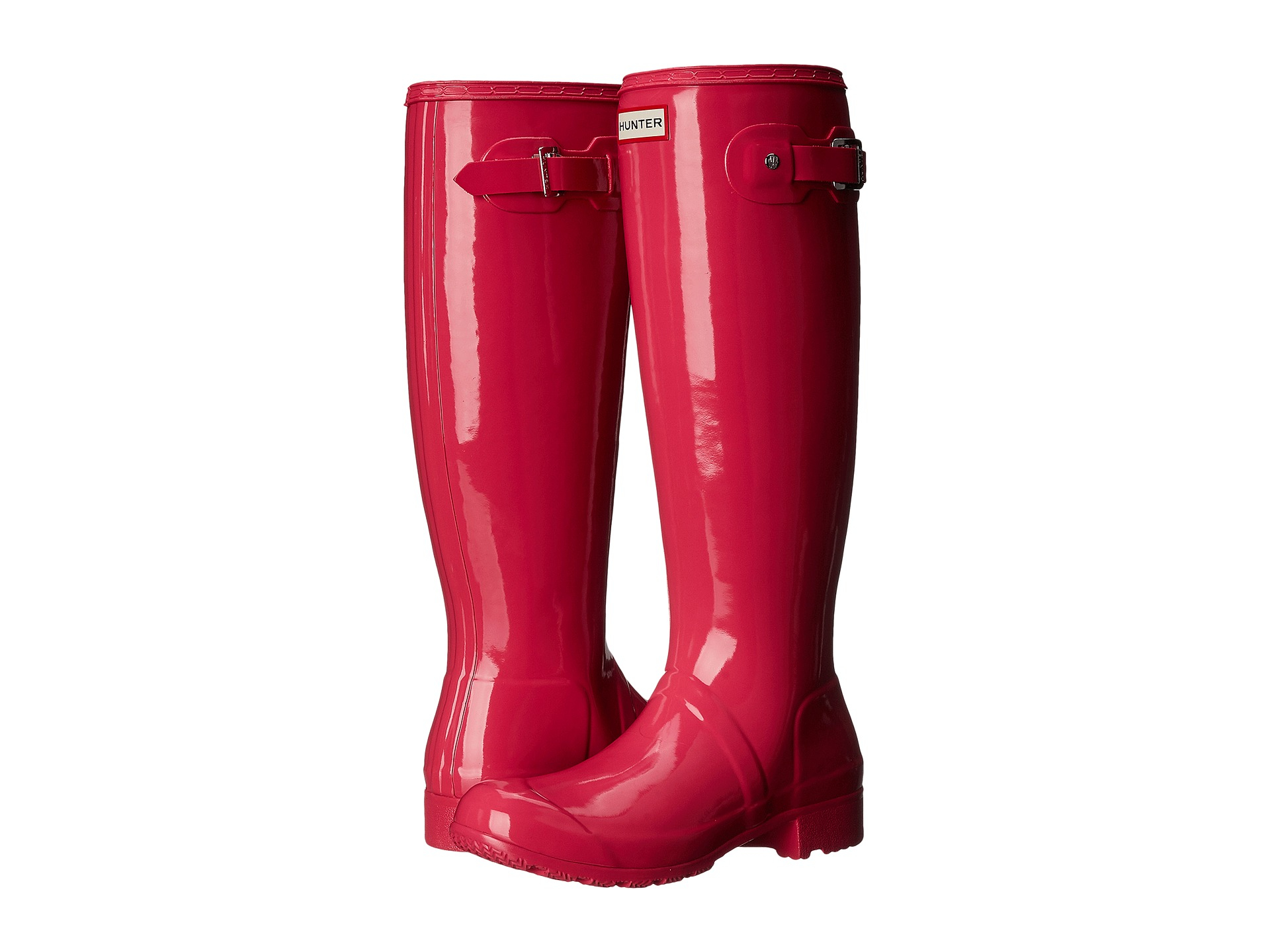 Womens Boots Hunter Original Tour Gloss Bright Cerise