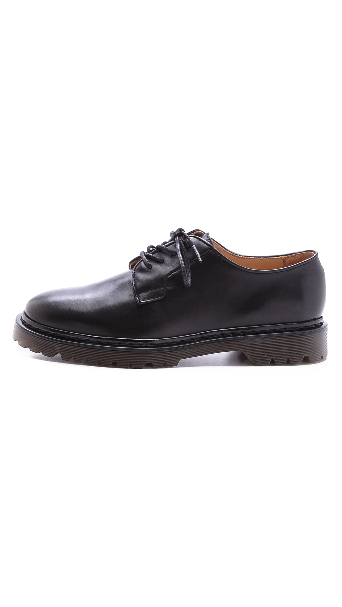 A.P.C. Leather Derby Shoes in Black for Men