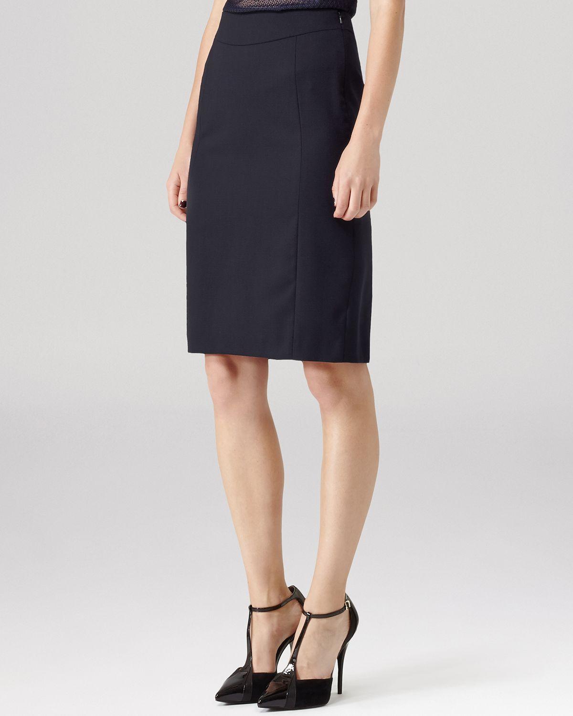 reiss skirt tami formal pencil in blue lyst
