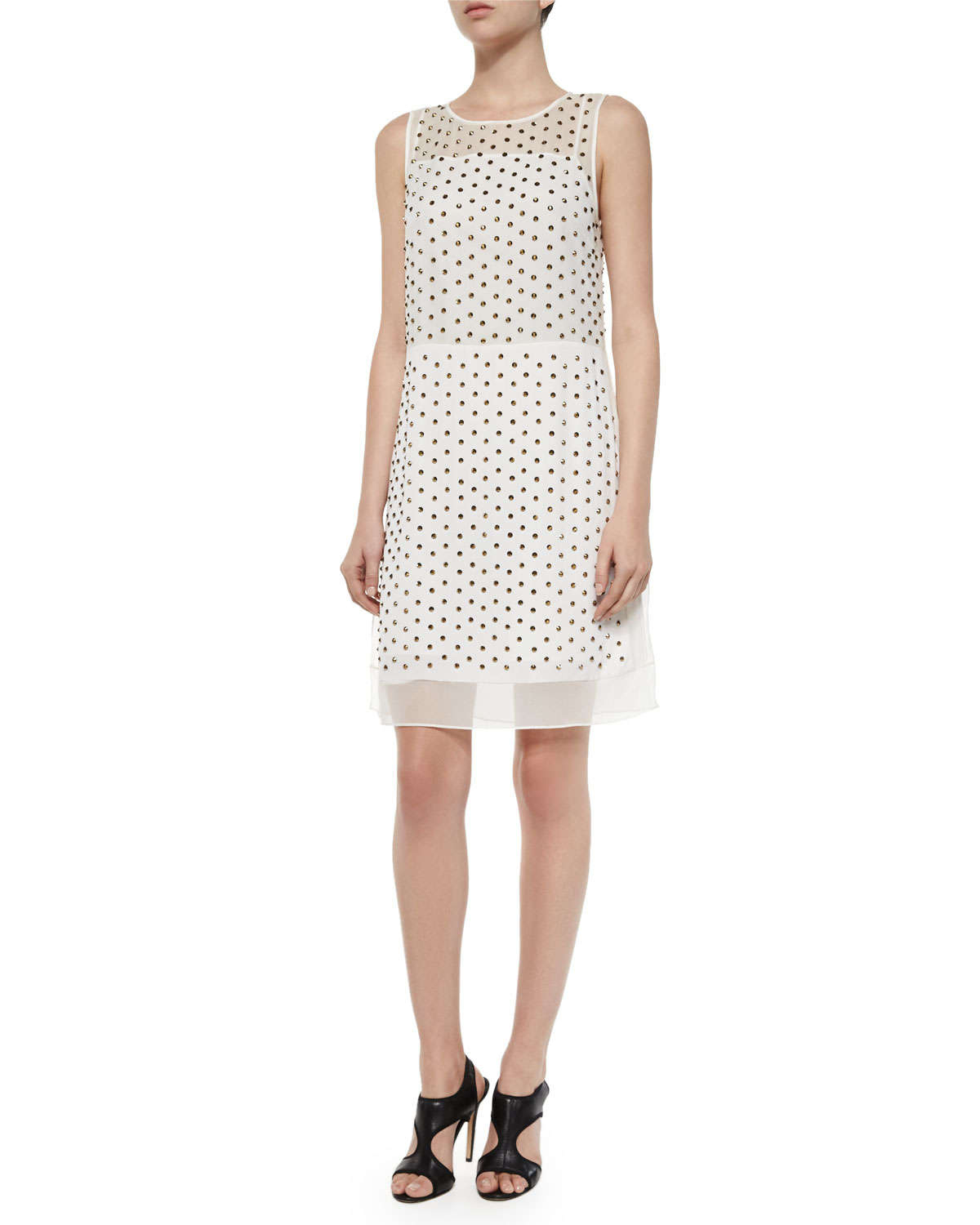 Lyst diane von furstenberg abriela embellished dress in for Diane von furstenberg clothes