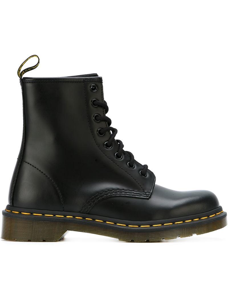 dr martens 1460 lace up boots in black lyst. Black Bedroom Furniture Sets. Home Design Ideas