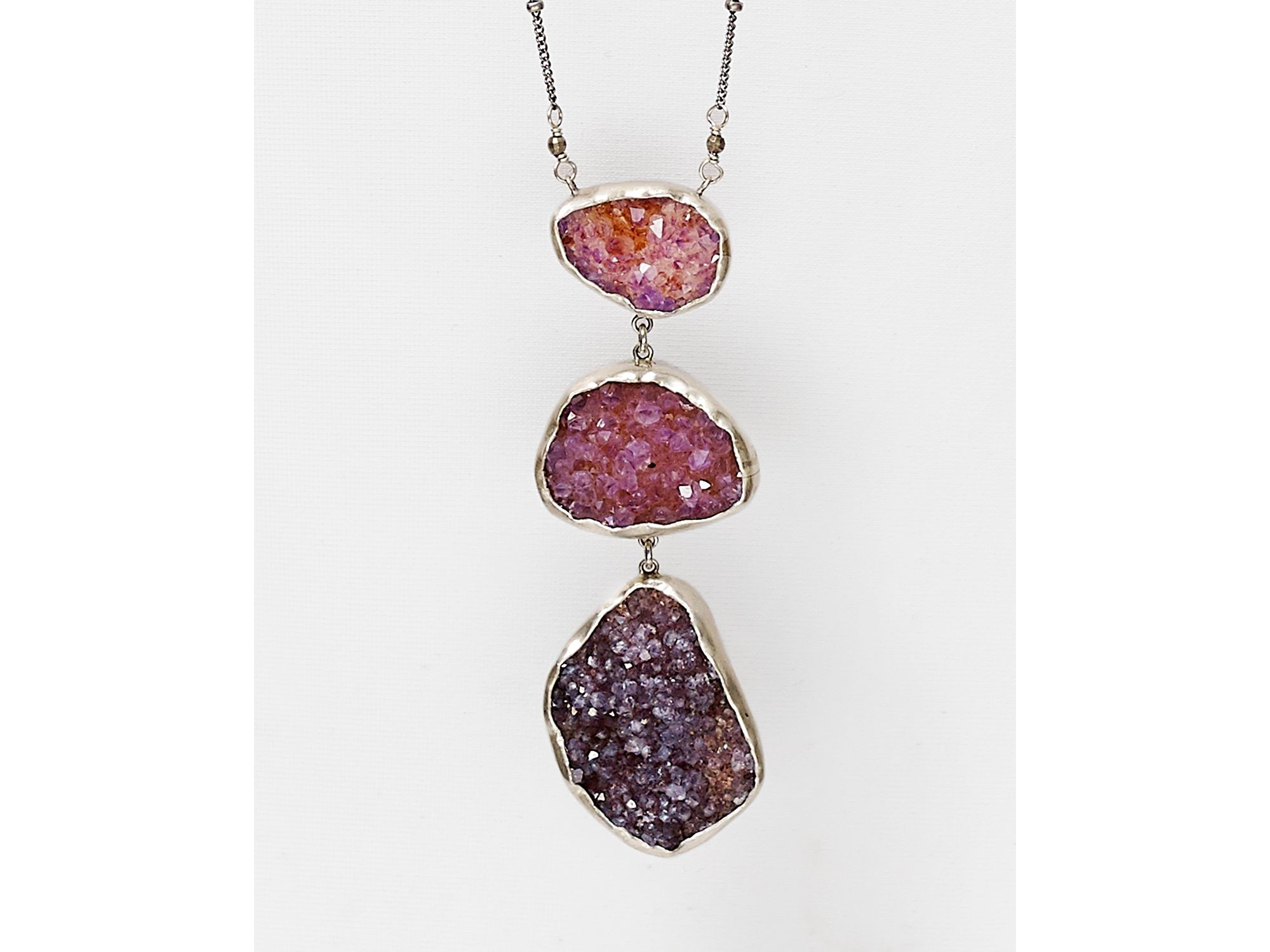 "Chan Luu Agate Pendant Necklace, 34"" in Purple"