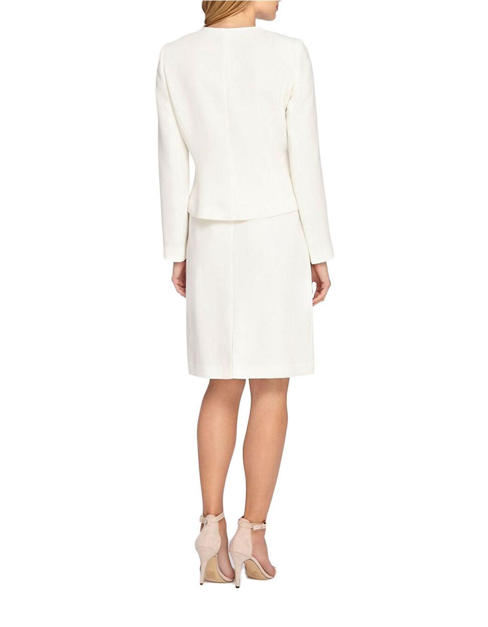Tahari 2-piece Ruffled Jacket And Skirt Set - Lyst