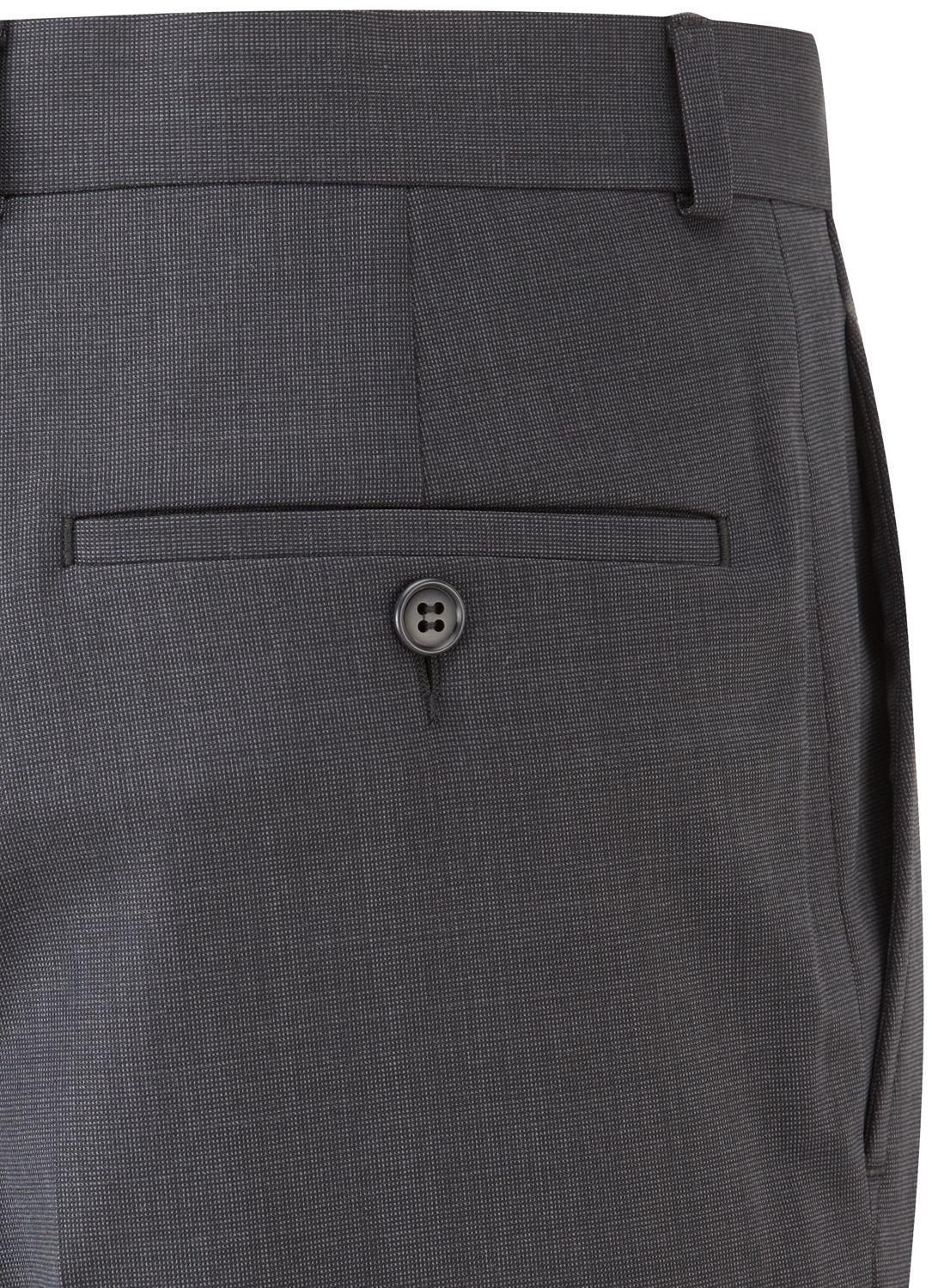 Austin Reed Wool Plain Slim Fit Suit Trousers in Charcoal (Grey) for Men