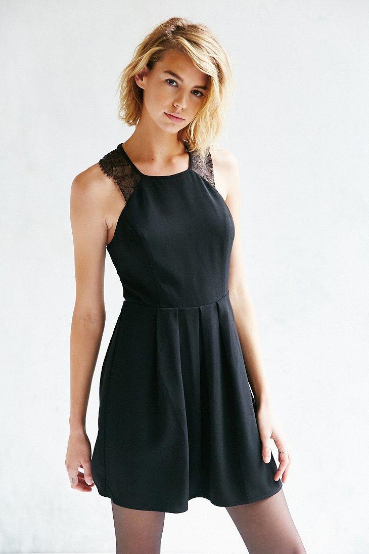 Lace And Velvet Mini Dress