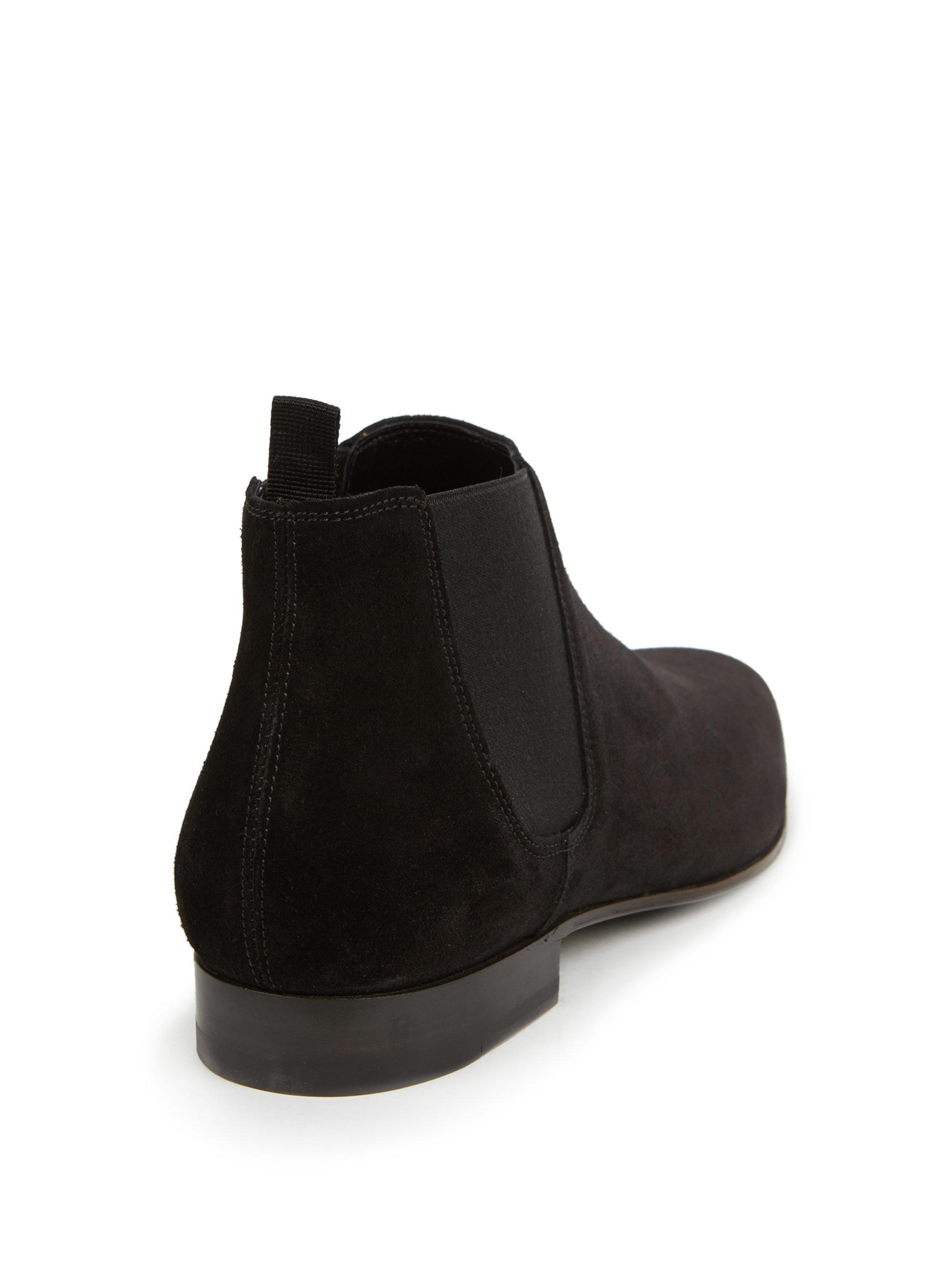 Saint laurent Suede Ankle Boots in Black for Men | Lyst