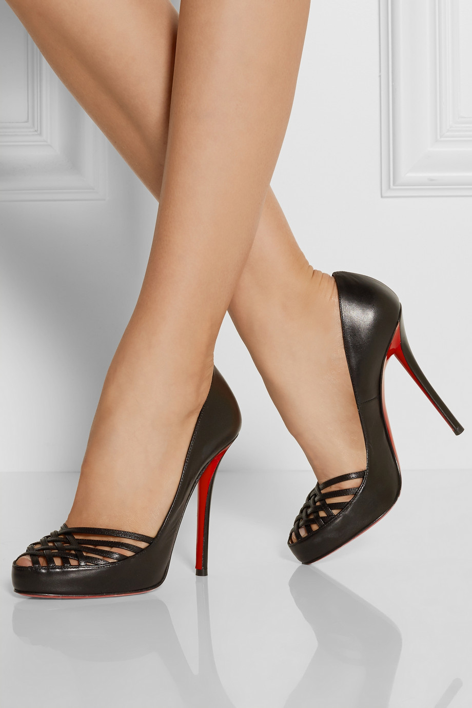 Christian Louboutin Swiftinetta 120 Leather Ankle Boots in