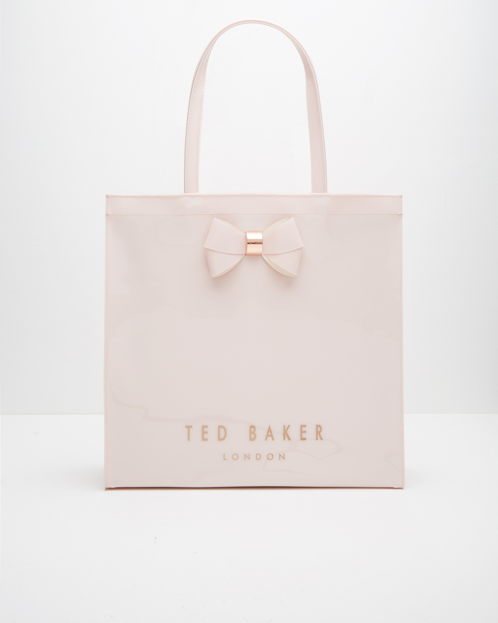 lyst ted baker bow detail large shopper bag in pink. Black Bedroom Furniture Sets. Home Design Ideas