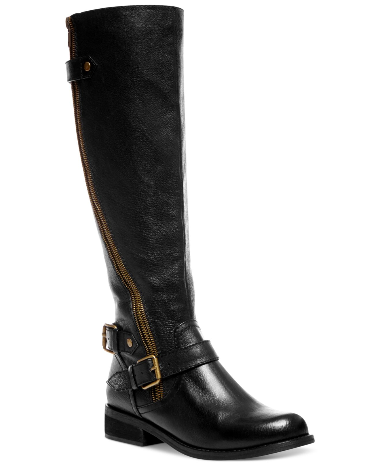 Steve Madden Women S Synicle Wide Calf Tall Boots In Black