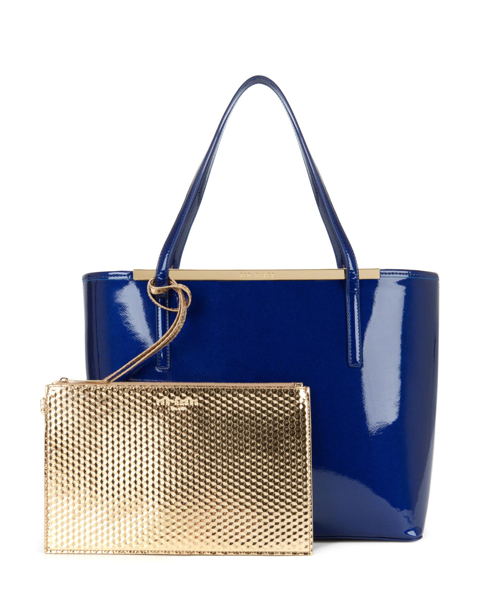 bf59c65196480c Lyst - Ted Baker Kingey Crosshatch Shopper in Blue