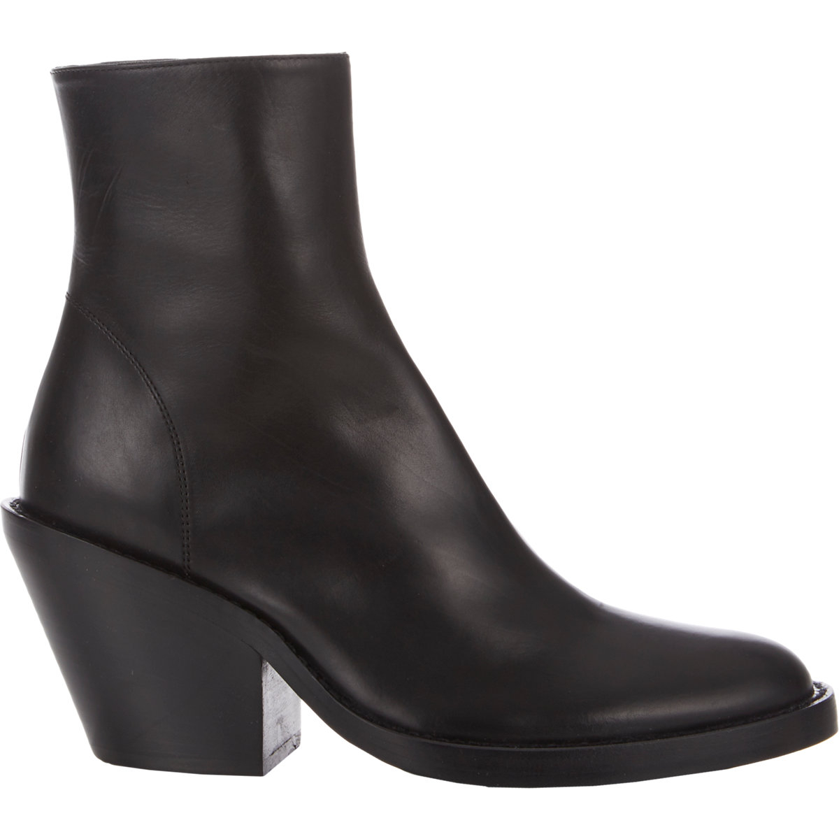 demeulemeester chunky heel ankle boots black size 5 in