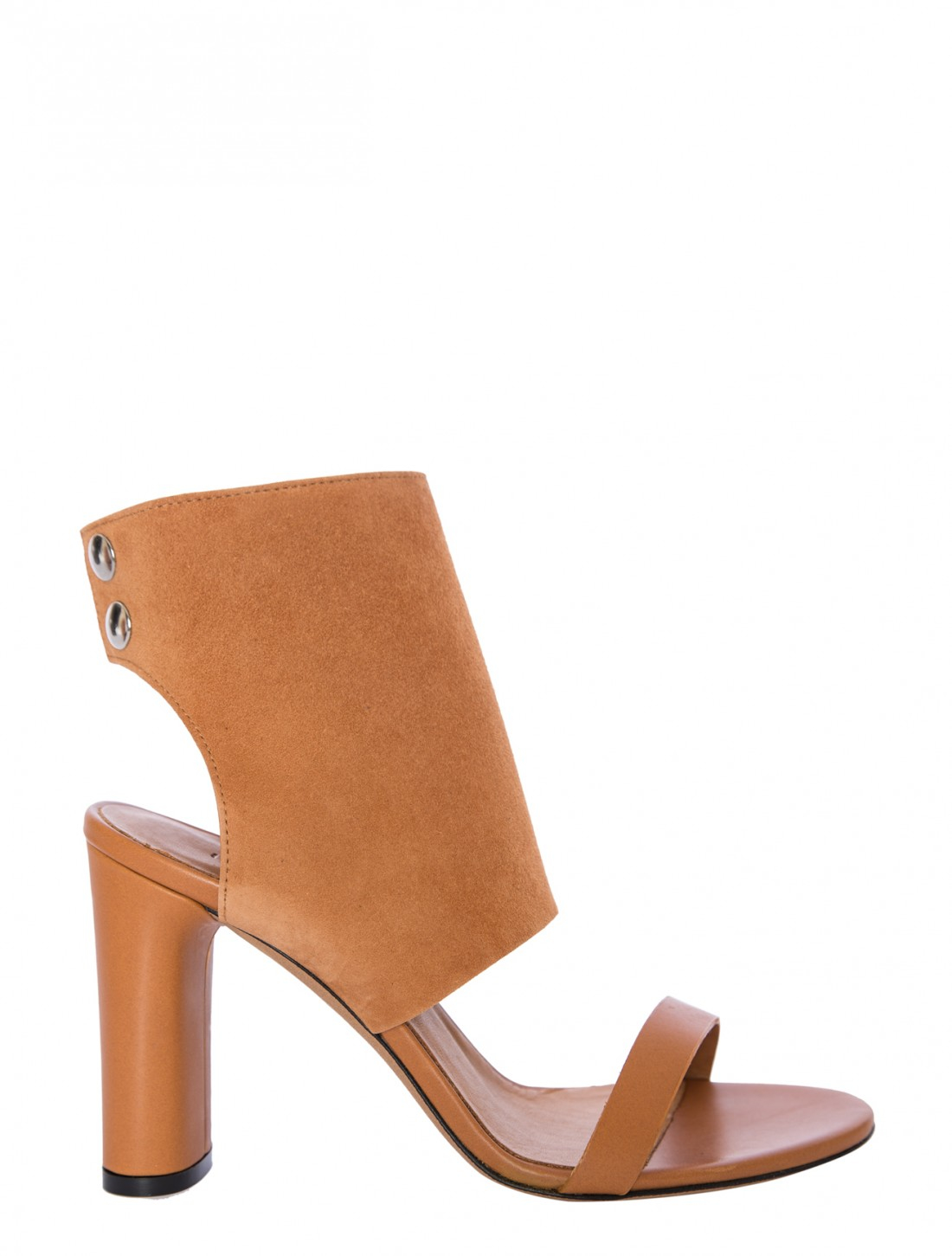 iro side high heel button ankle sandal in brown camel lyst
