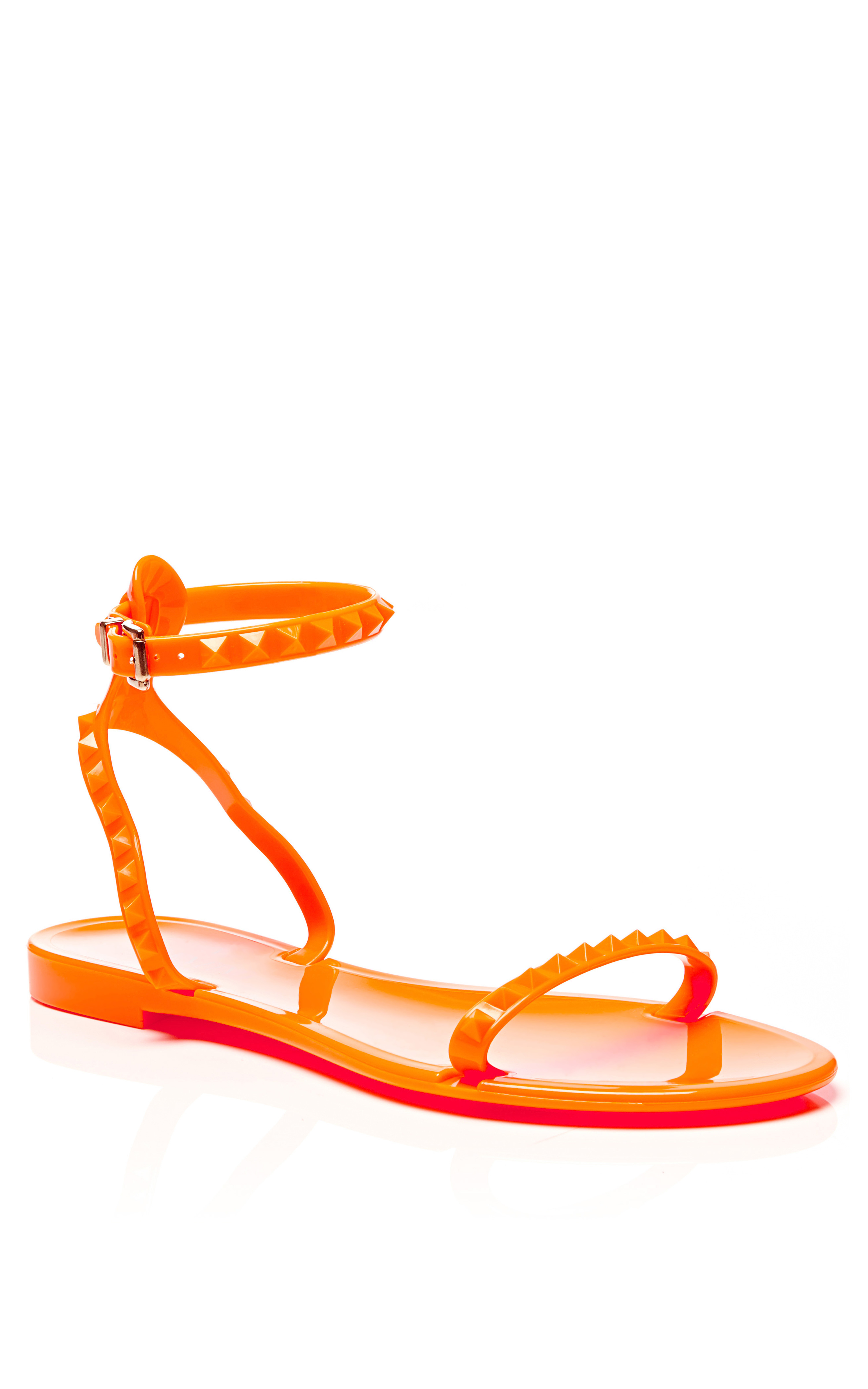 flat Rockstud sandals - Yellow & Orange Valentino 8r4EQg